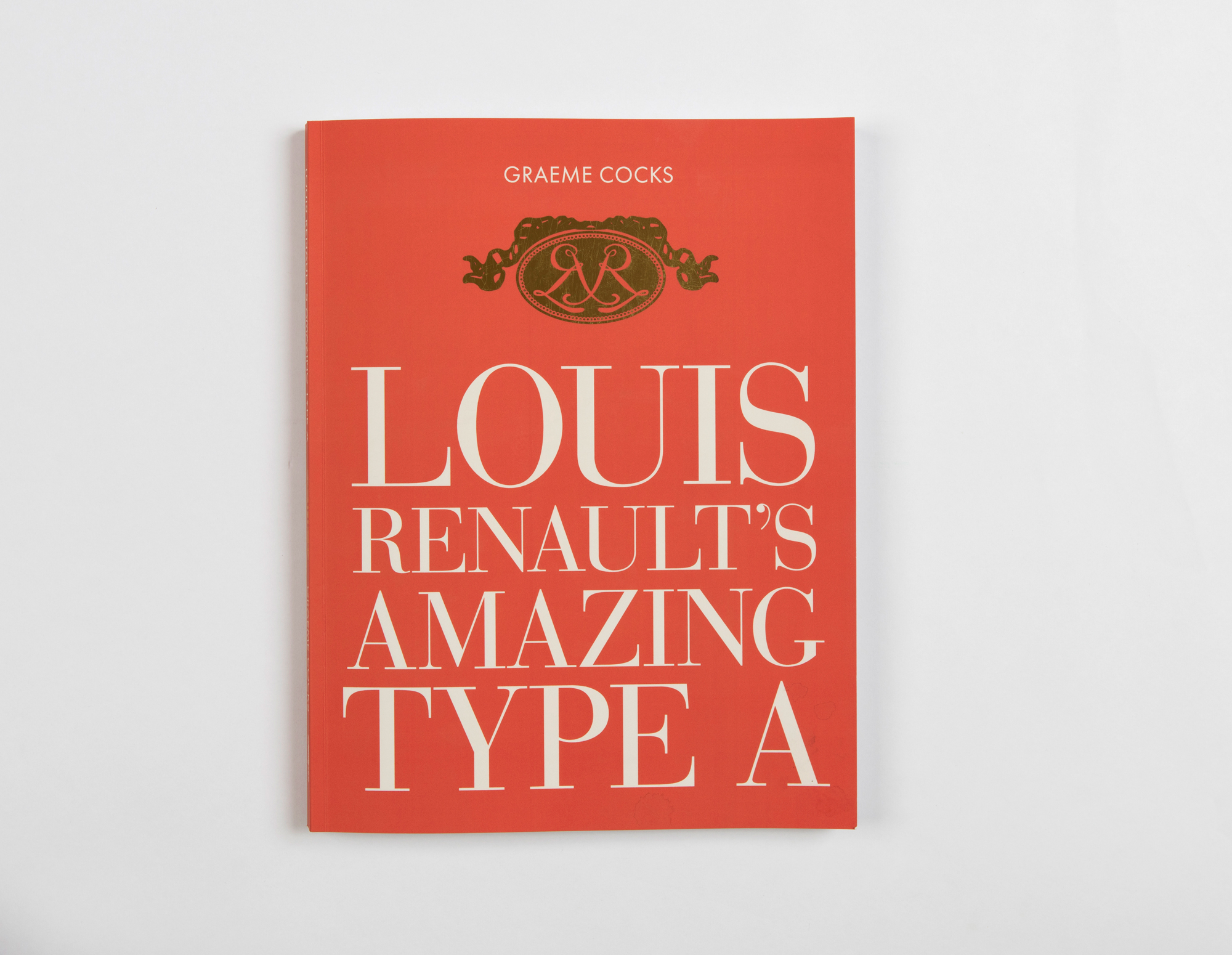An historic typeface, Bodoni, synonymous with style and quality, is used for this book cover.