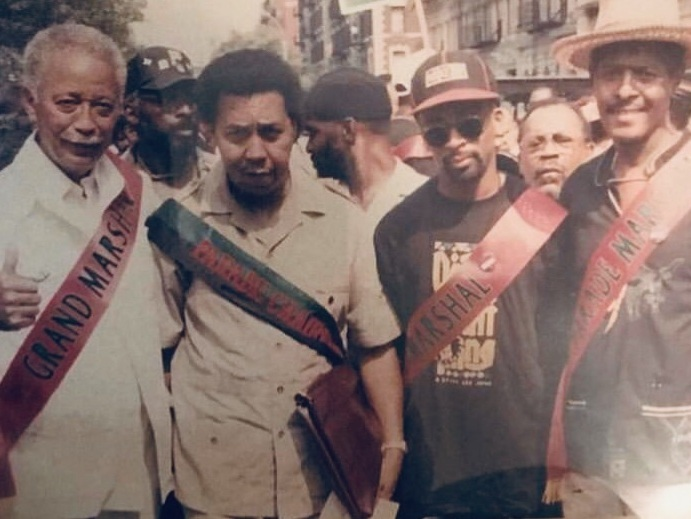 1989 - AADP celebrates its 21st annual parade titled: Unity for African Americans: The Right Thing for the 90s'. Legendary film maker, producer, writer, and actor, Spike Lee, and the iconic former mayor of New York, David Dinkins, were honored as Grand Marshals.