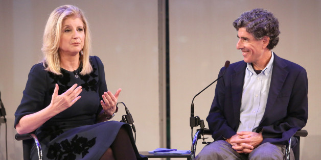 Photo of Davidson with Arianna Huffington from The Huffington Post