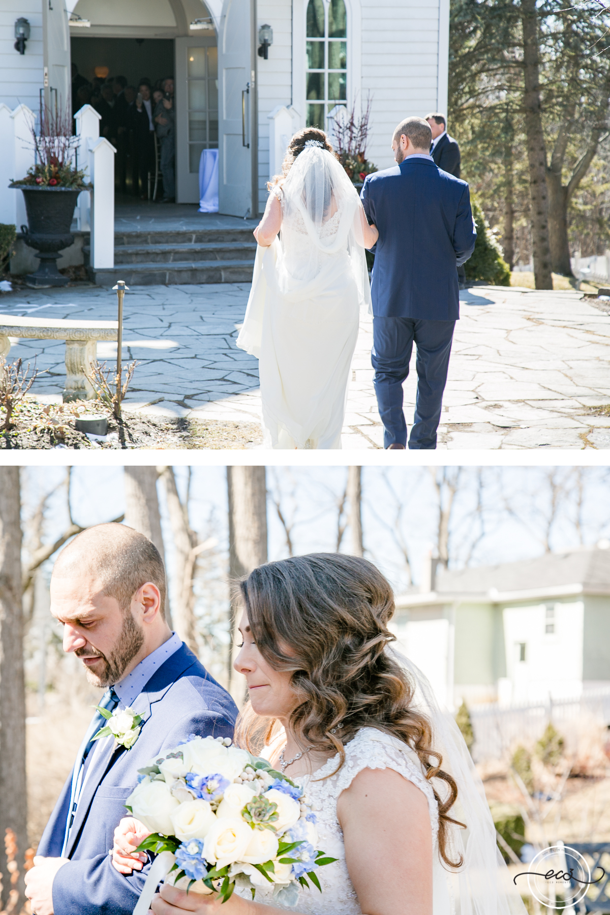 When the moment is becoming real just steps away from the altar, just remember to breathe like our beautiful bride and her brother.
