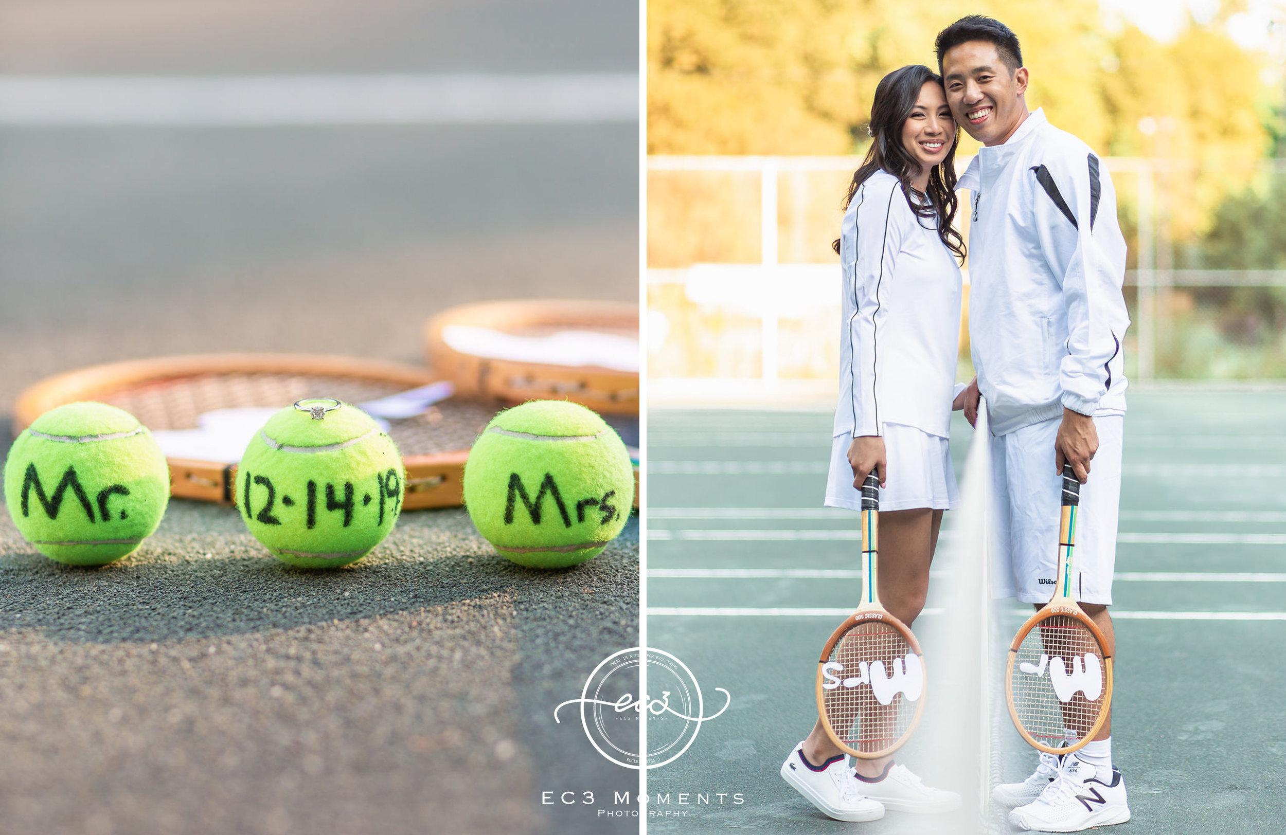 Alexander Muir Memorial Gardens Tennis Court Toronto Engagement 11.jpg