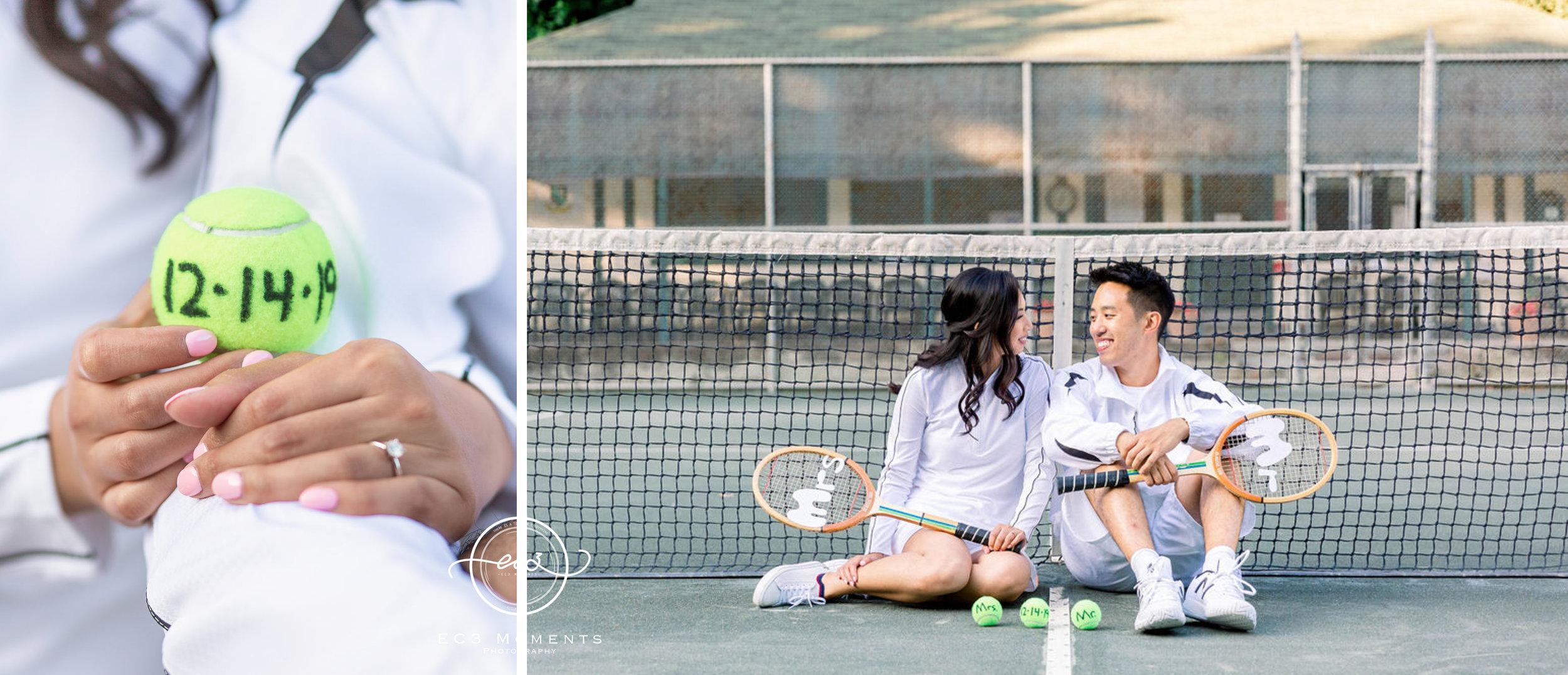 Alexander Muir Memorial Gardens Tennis Court Toronto Engagement 13.jpg