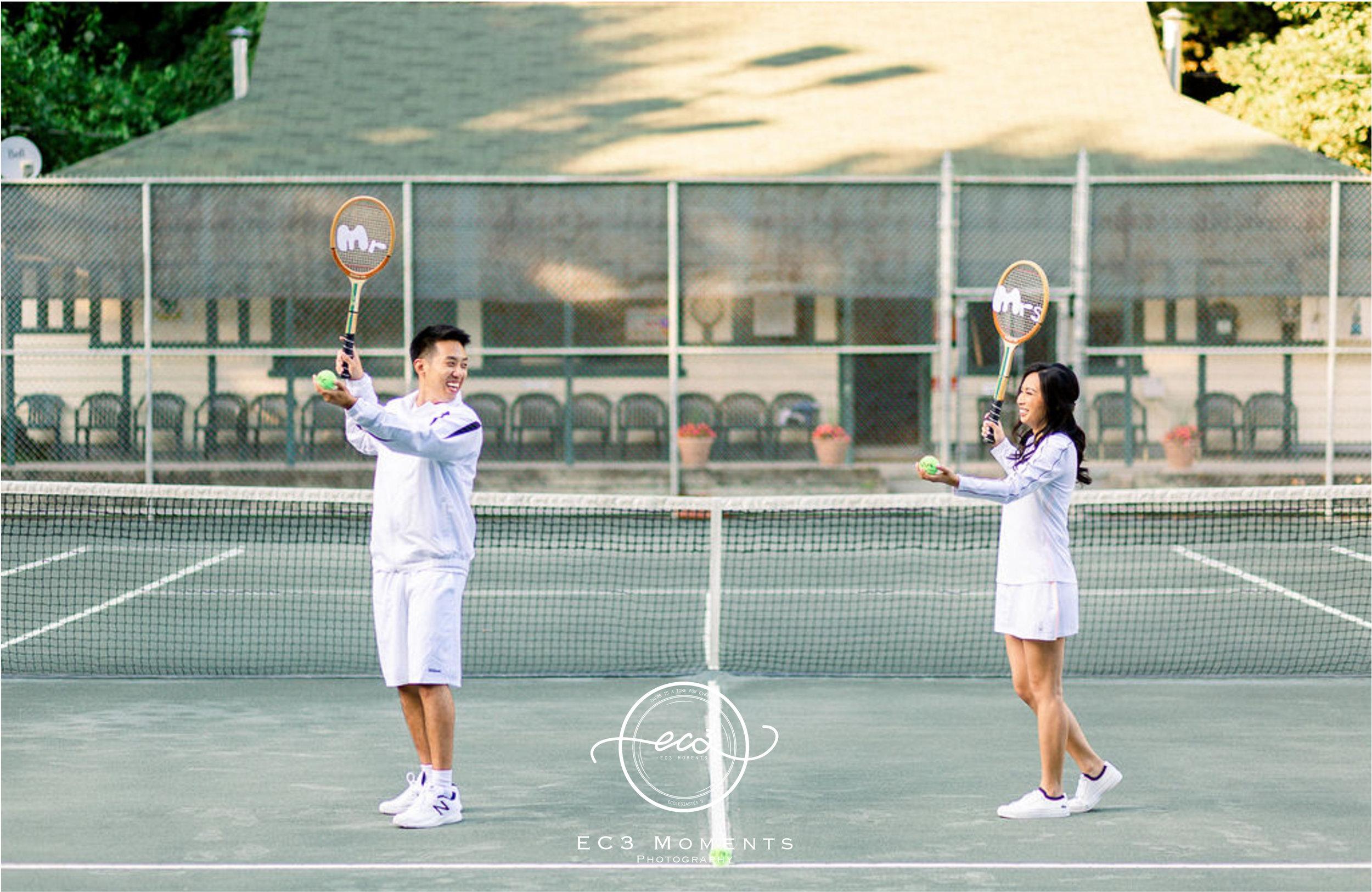 Alexander Muir Memorial Gardens Tennis Court Toronto Engagement 14.jpg