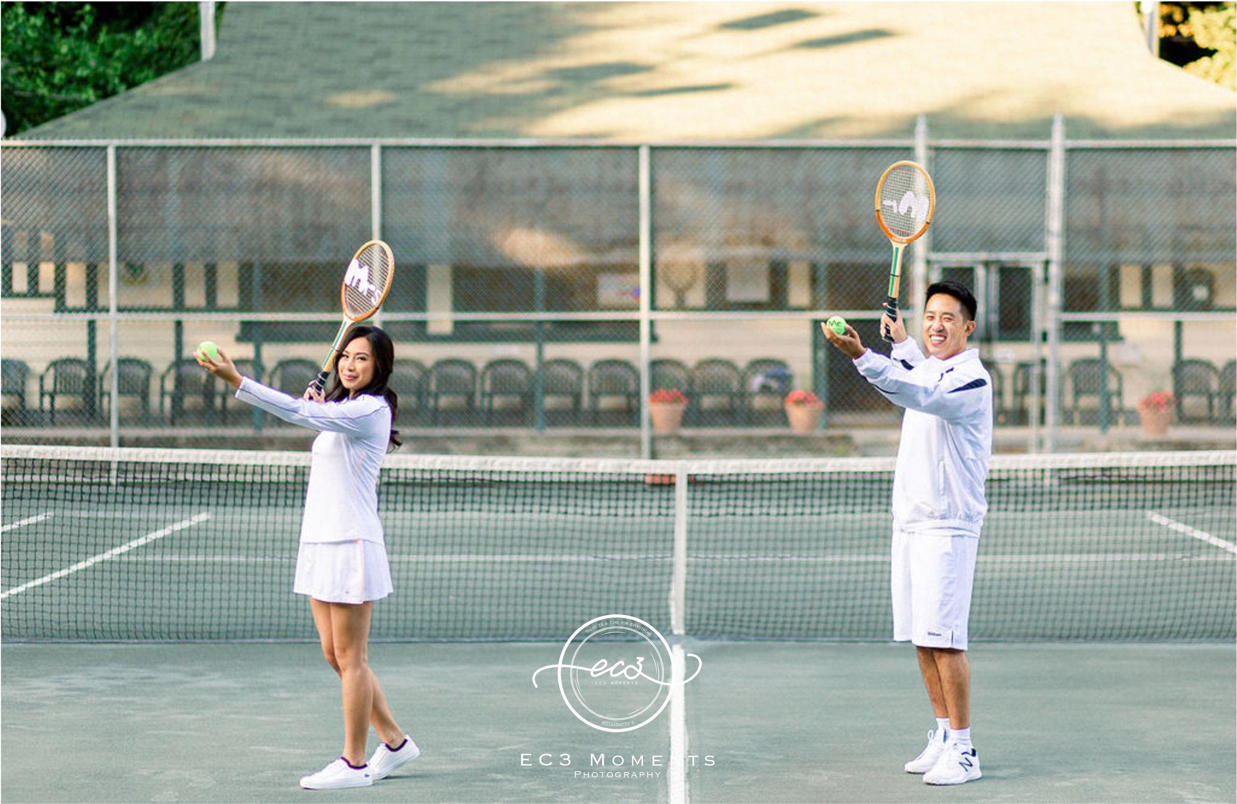 Alexander Muir Memorial Gardens Tennis Court Toronto Engagement 15.jpg