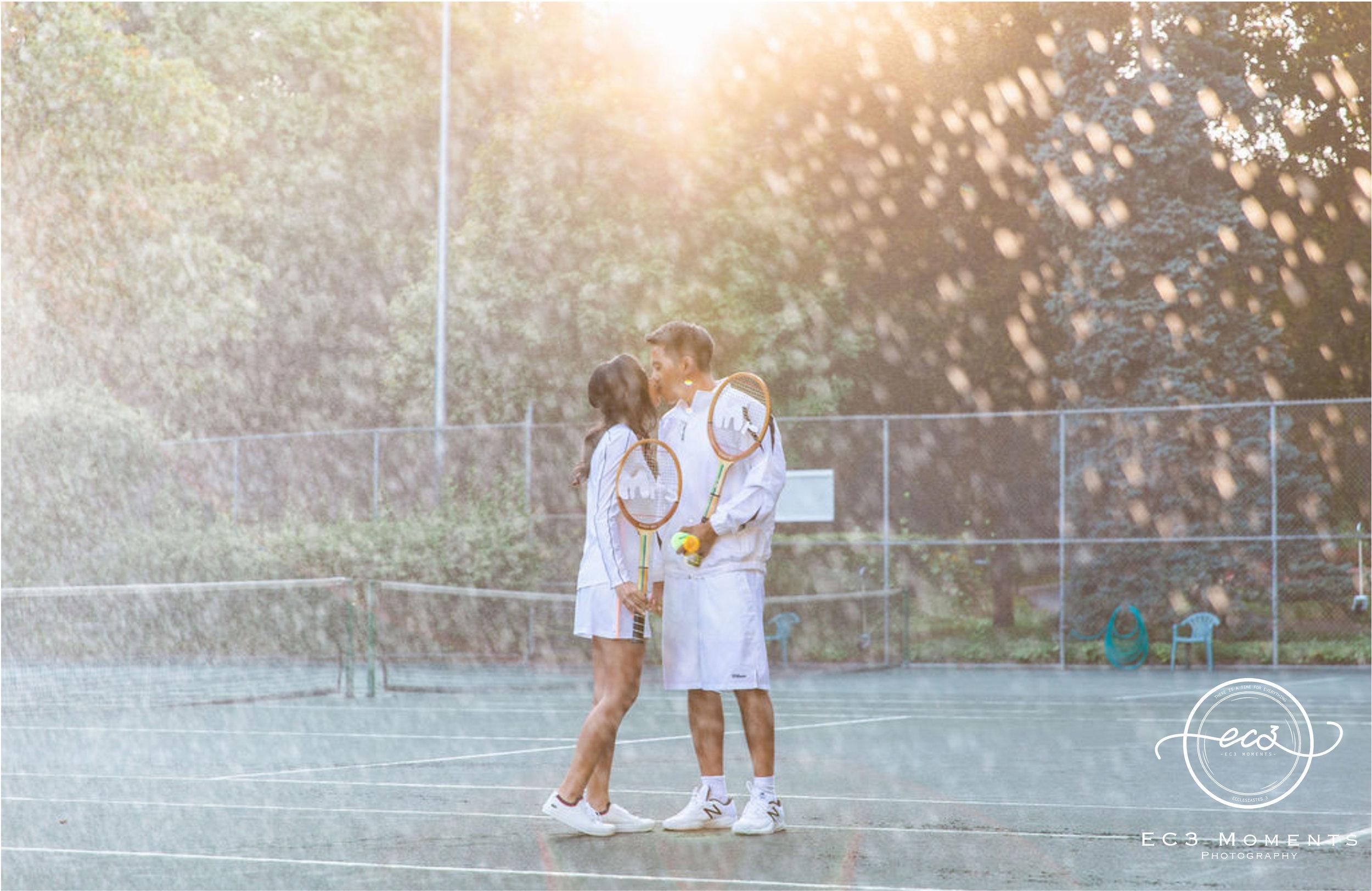 Alexander Muir Memorial Gardens Tennis Court Toronto Engagement 16.jpg