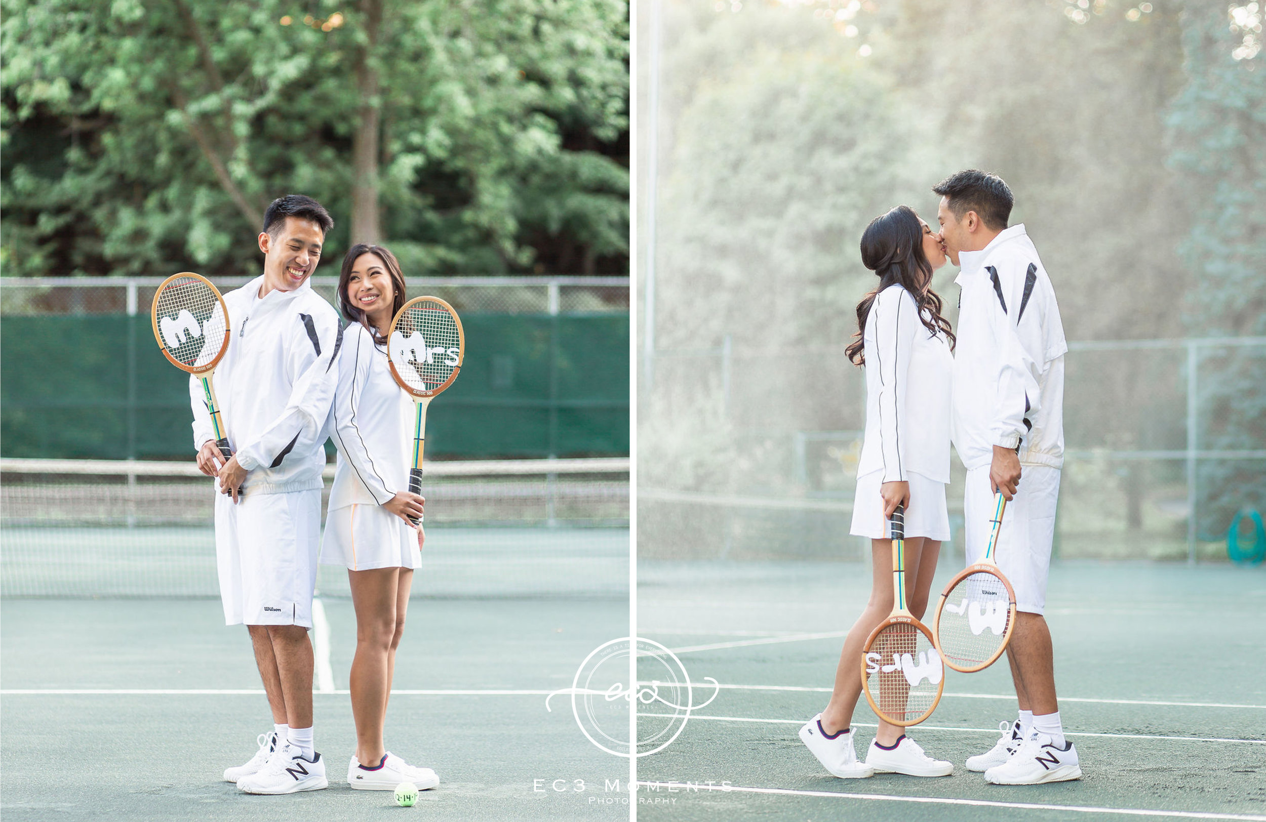 Alexander Muir Memorial Gardens Tennis Court Toronto Engagement 17.jpg