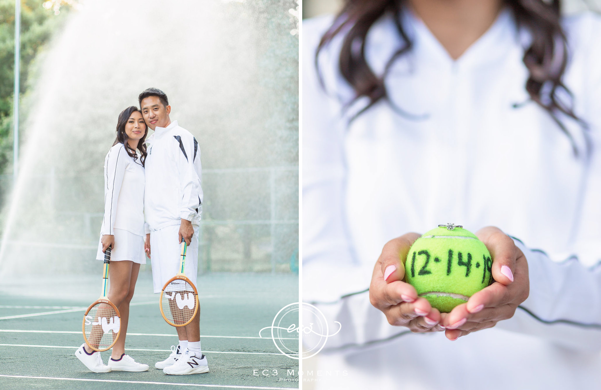 Alexander Muir Memorial Gardens Tennis Court Toronto Engagement 20.jpg