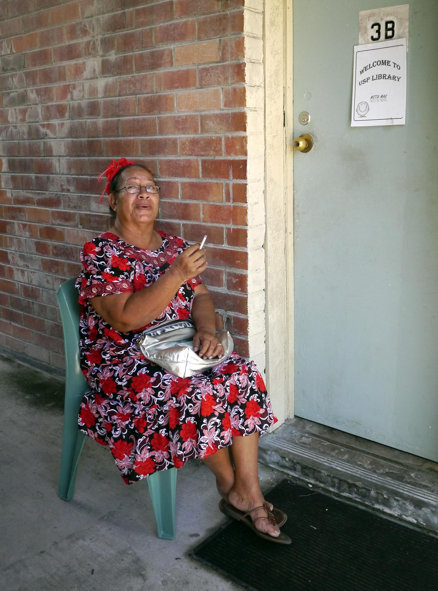 Briar-Rose-Alona-at-the-USP-Library,-Nauru.jpg