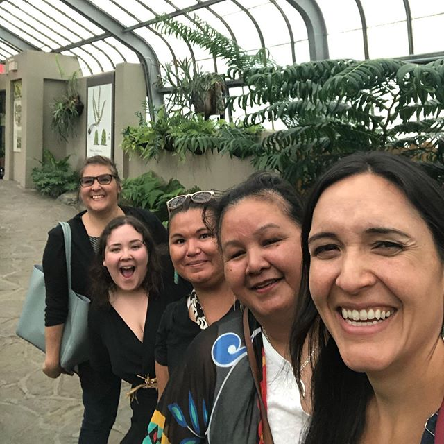 Squamish ladies hit the Montreal botanical gardens! We are all here for a meeting on addressing type 2 diabetes through turning to our plant foods and medicines along with culturally related exercise.