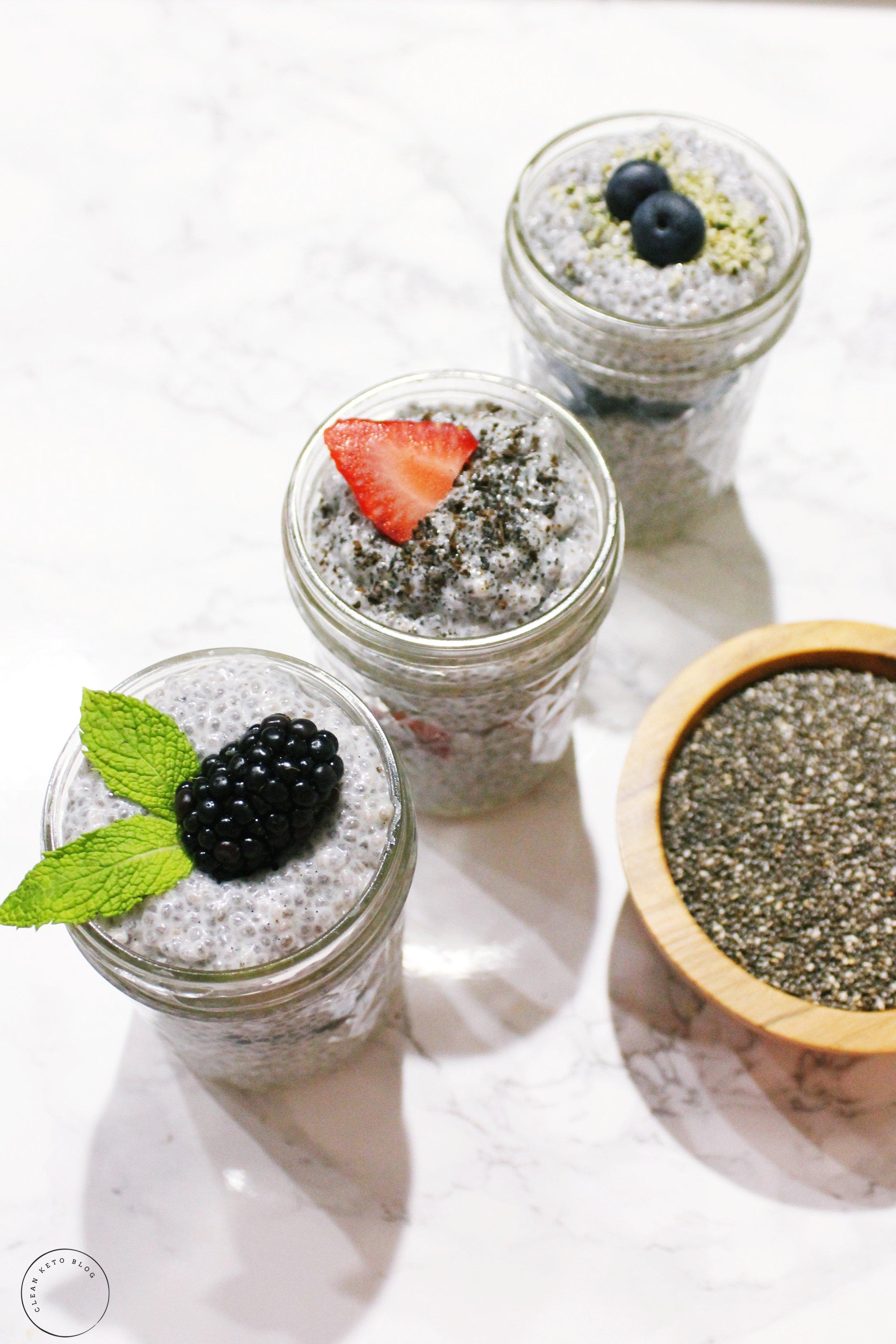 vegan keto breakfast recipe chia pudding