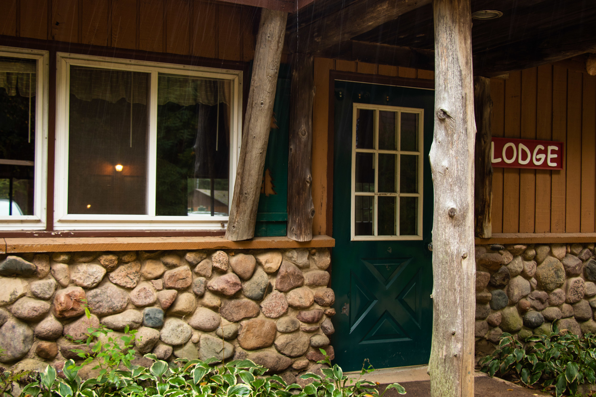 The Lodge - During the summer, the Lodge is used for small group sessions, and the Lodge Rooms are used for staff housing. In the fall, winter, or spring, the Lodge is used for meeting space and lodging for retreat groups.