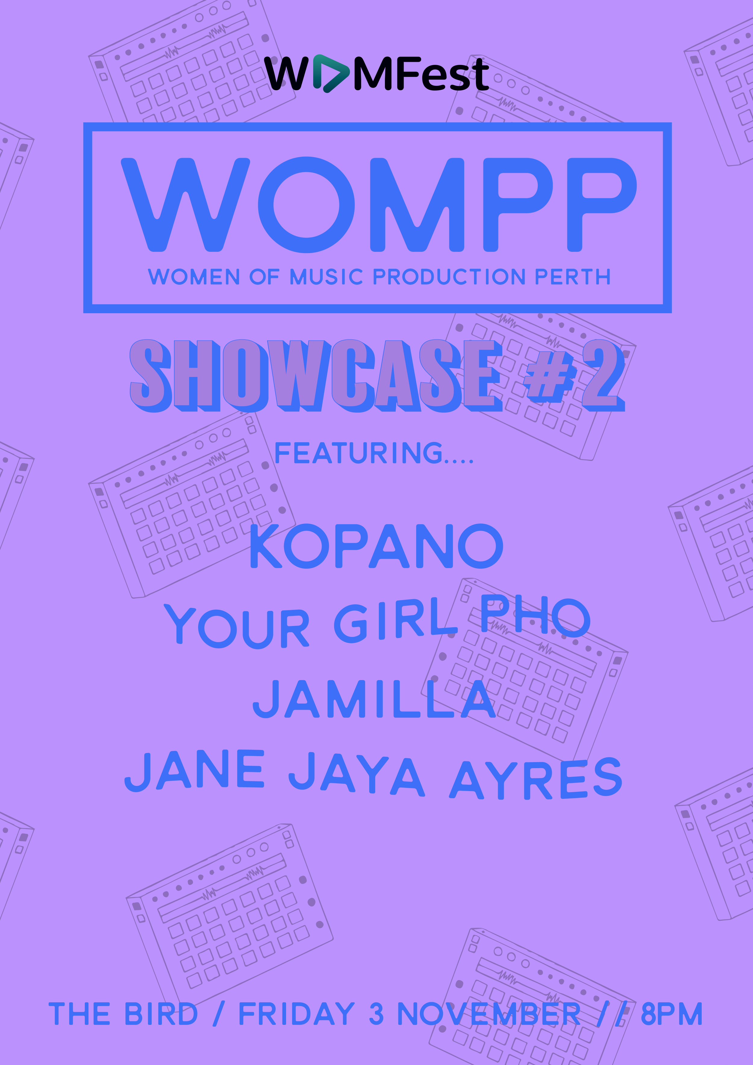Presented by Women of Music Production Perth