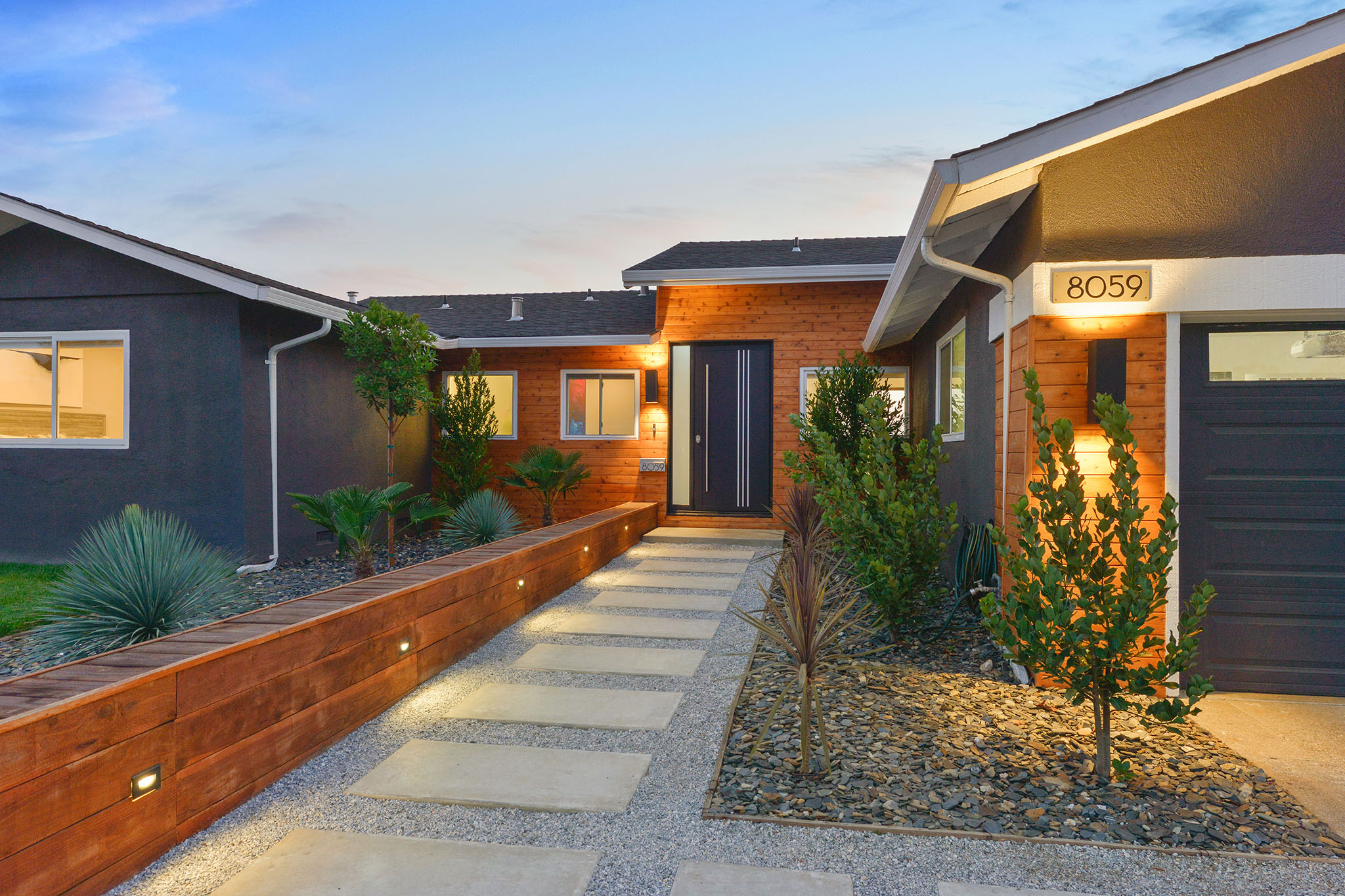 Gorgeous curb appeal with a modern look.