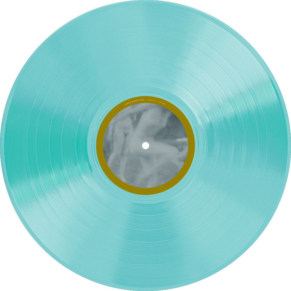"• Transparent Electric Blue Vinyl (limited to 200) / ""Spellbound"" Side"