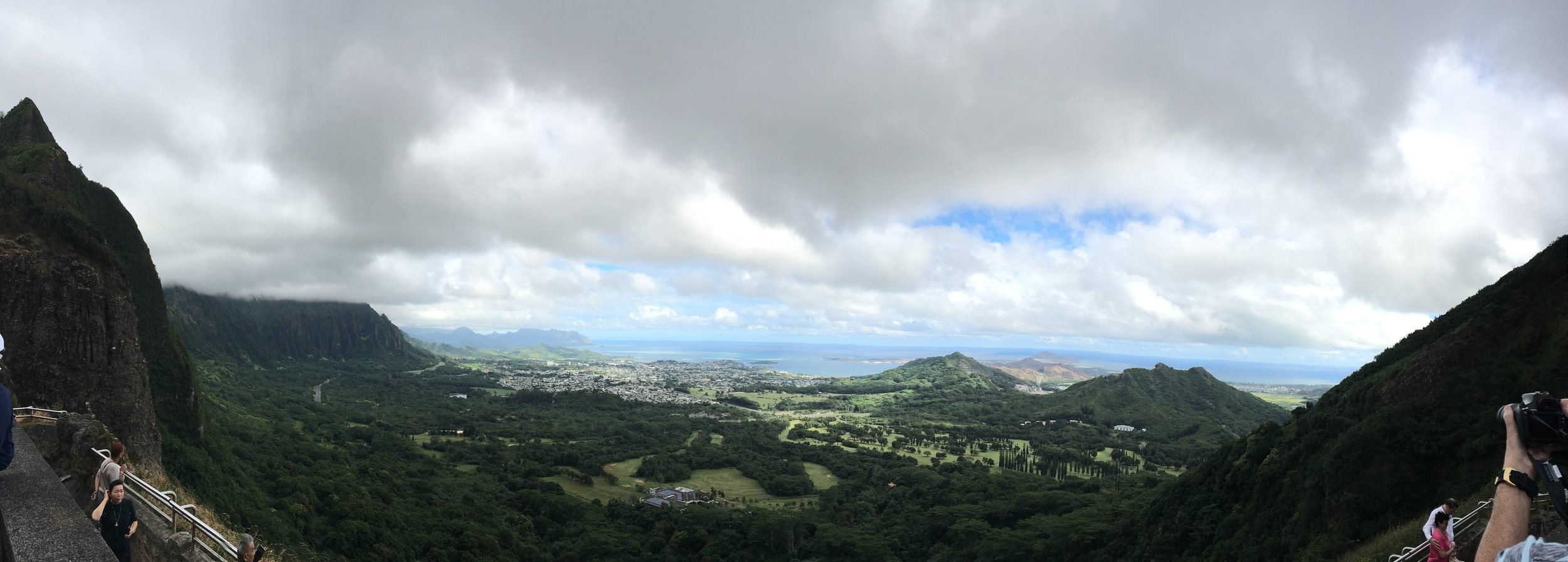 Pali Lookout View over Kaneohe