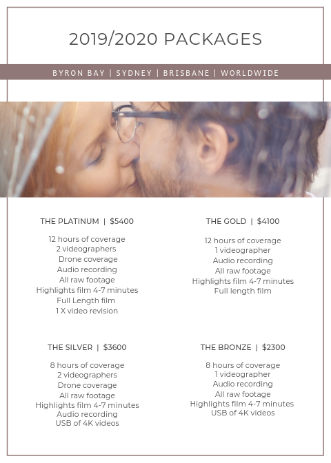 Wedding Video Packages Byron Bay — TALL TREE FILMS