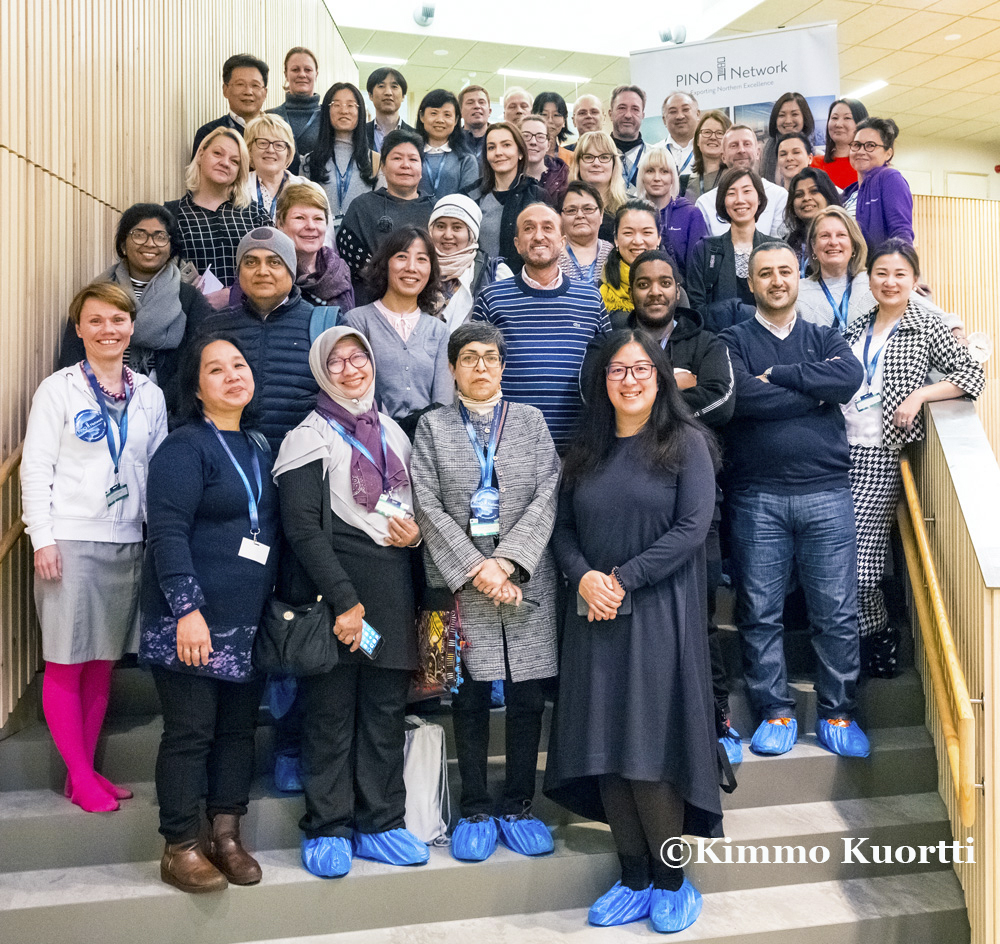 Arctic Education 2018 Group photo at Hiukkavaara community house