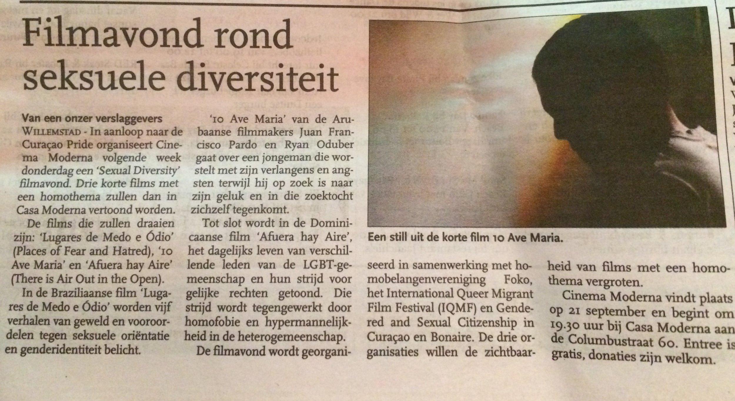 Article in Algemeen Dagblad - September 15, 2017
