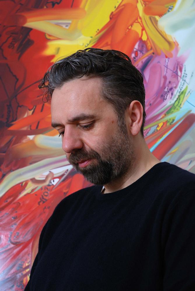 Keith Tyson photographed at Panta Rhei, Pace Gallery, London 2013.   keithtyson.com