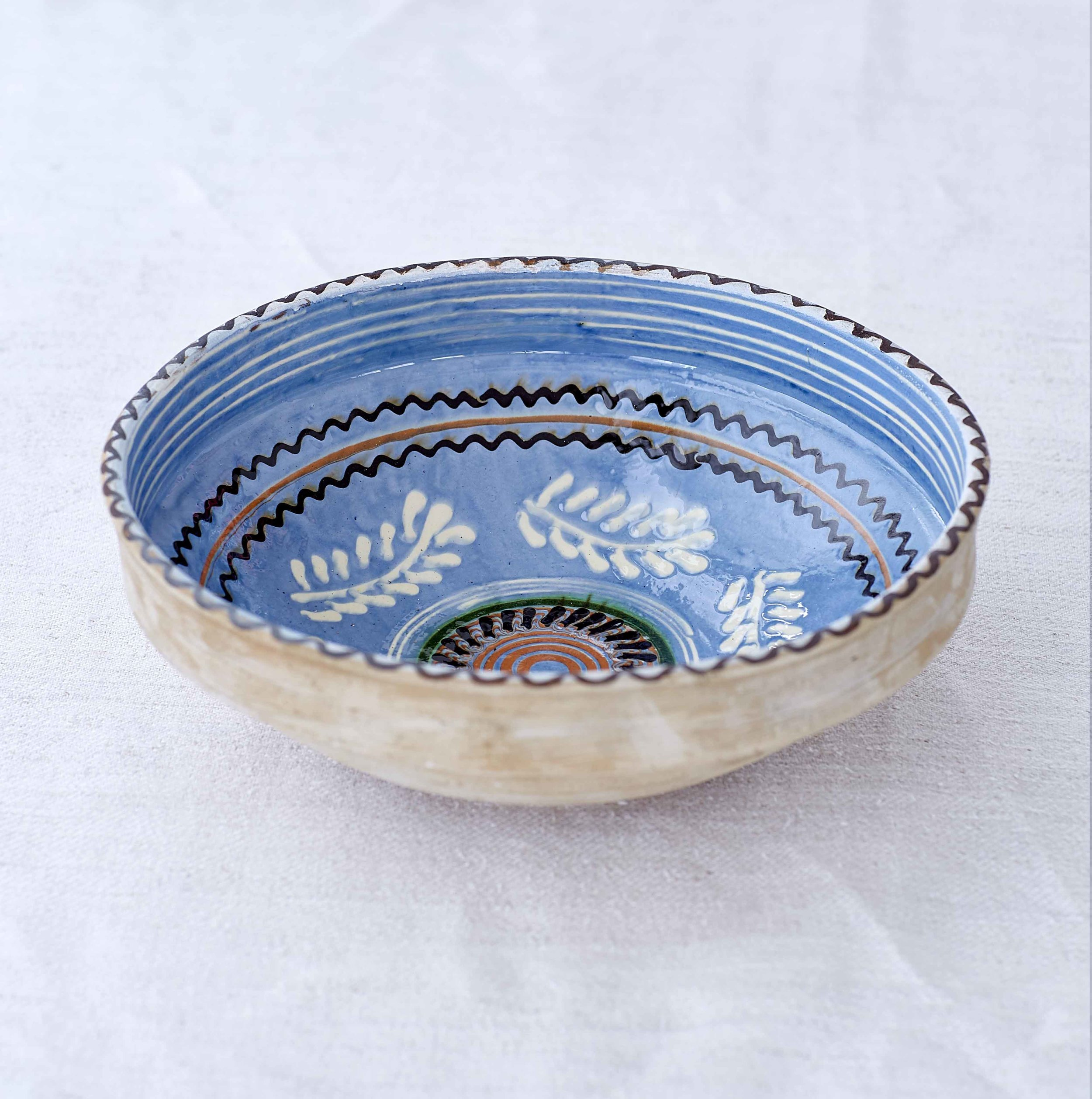 Blue Feathers Bowl