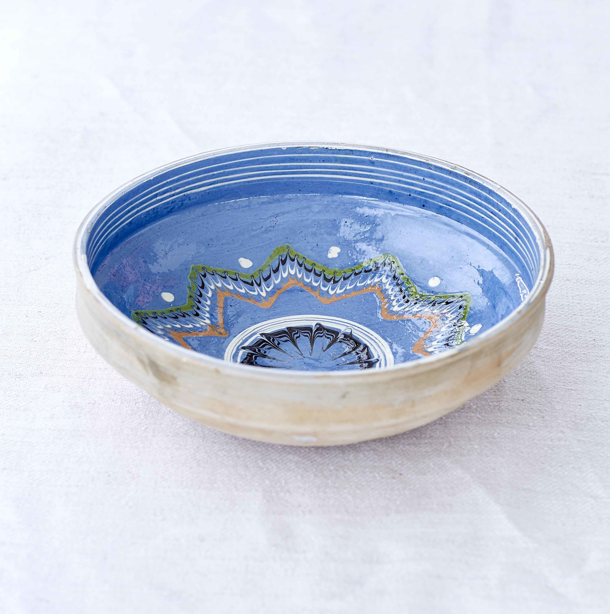 Blue Marbled Star Bowl
