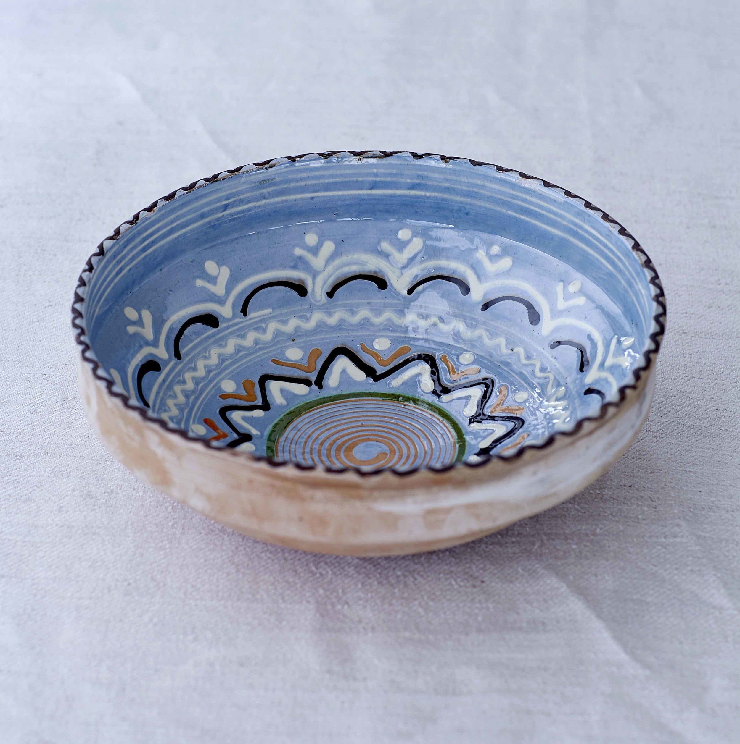 Blue Sunflower Bowl