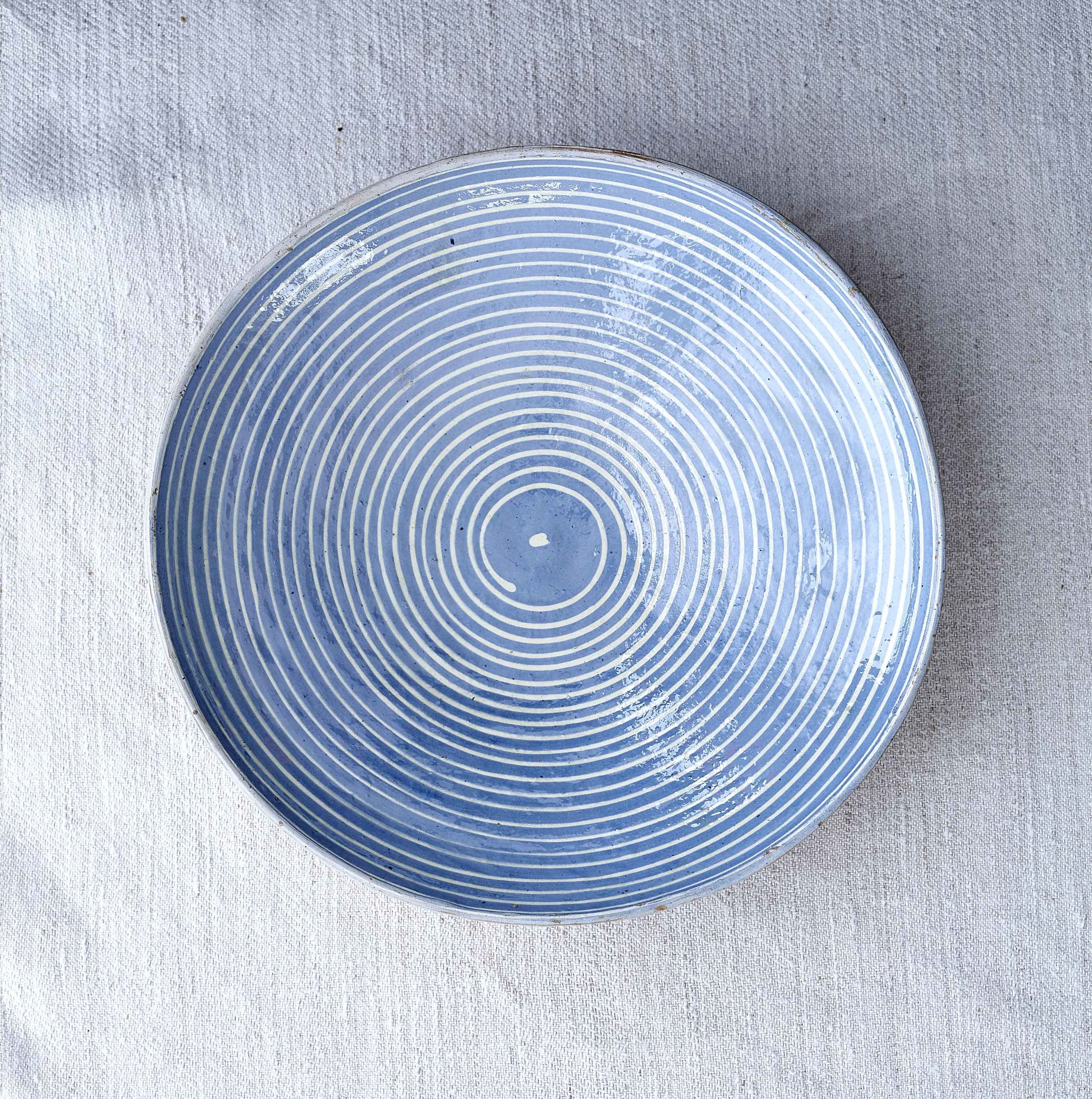 White on Blue Swirl