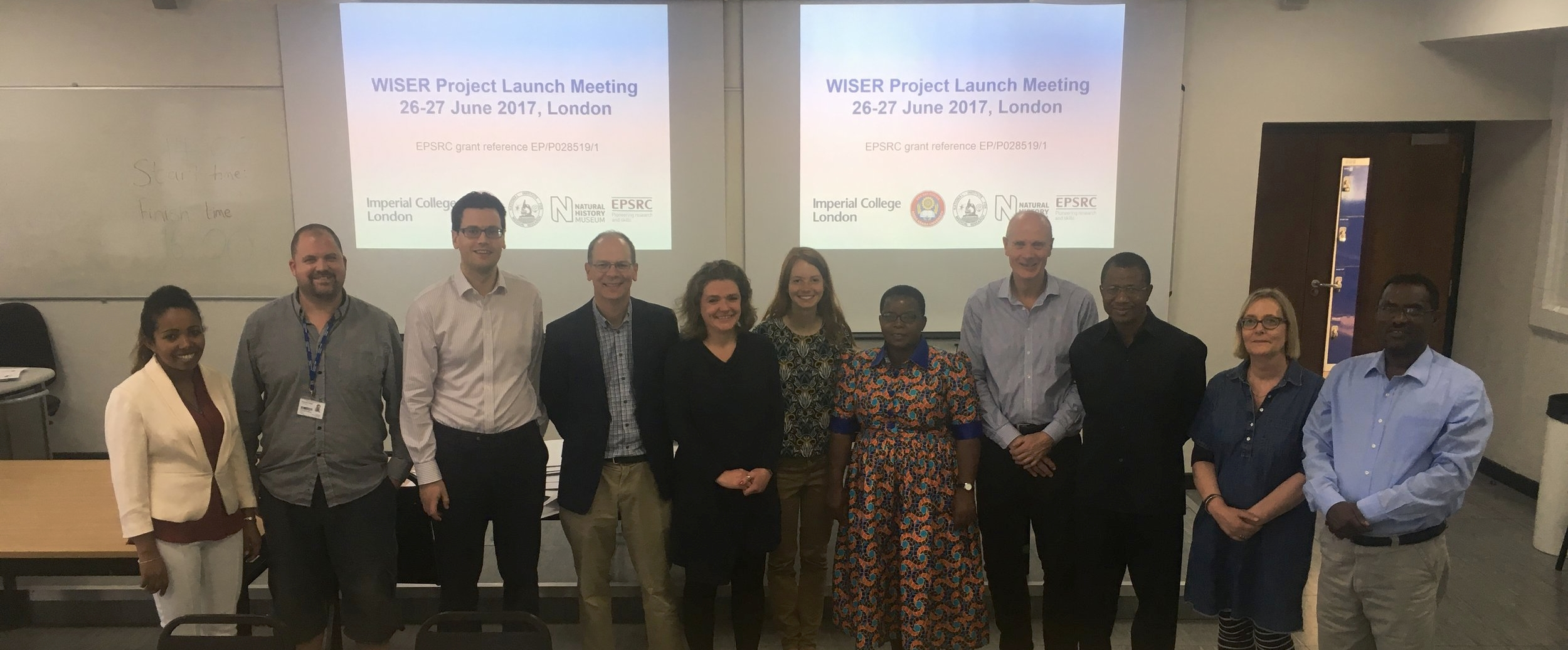 Collaborators from each of the partner institutions attended the WISER launch meeting.