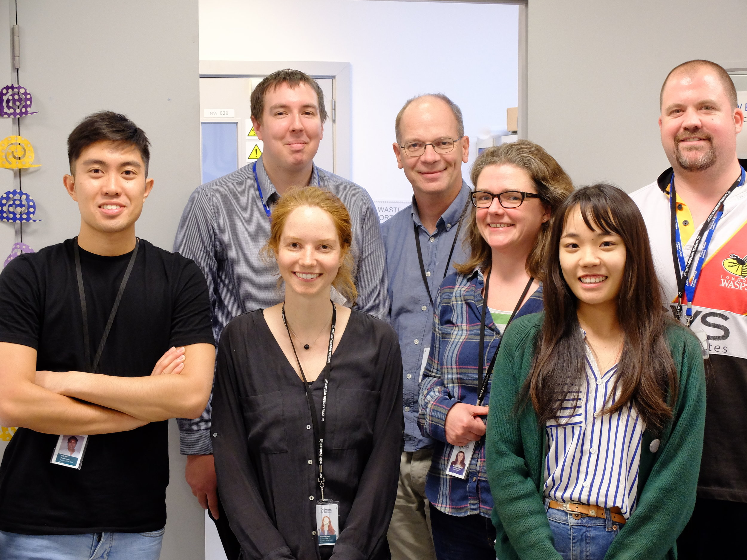 The lab team - special thanks to Richard, Aidan, Fiona and Alex