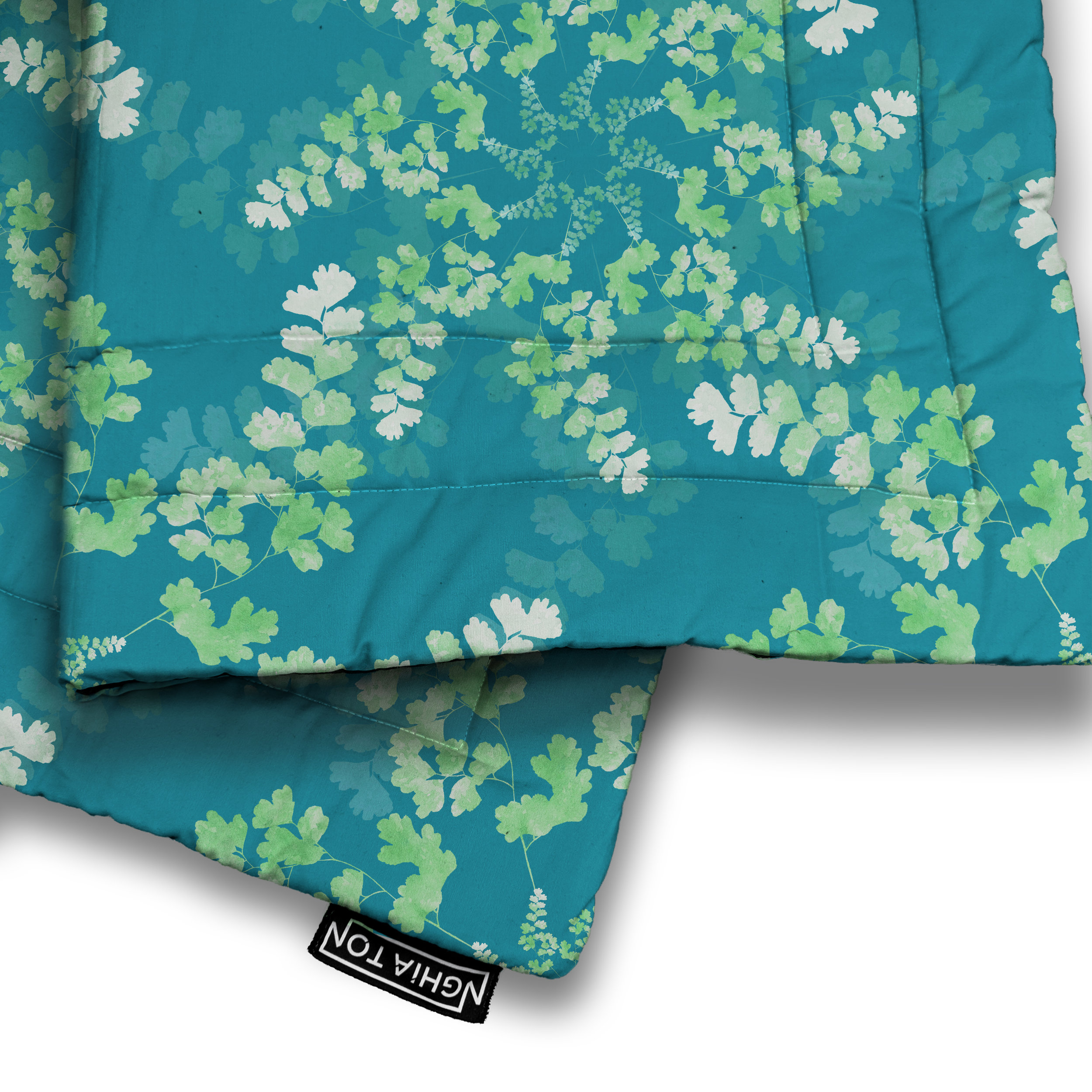 Maidenhair Fern Quilted Blanket from £58