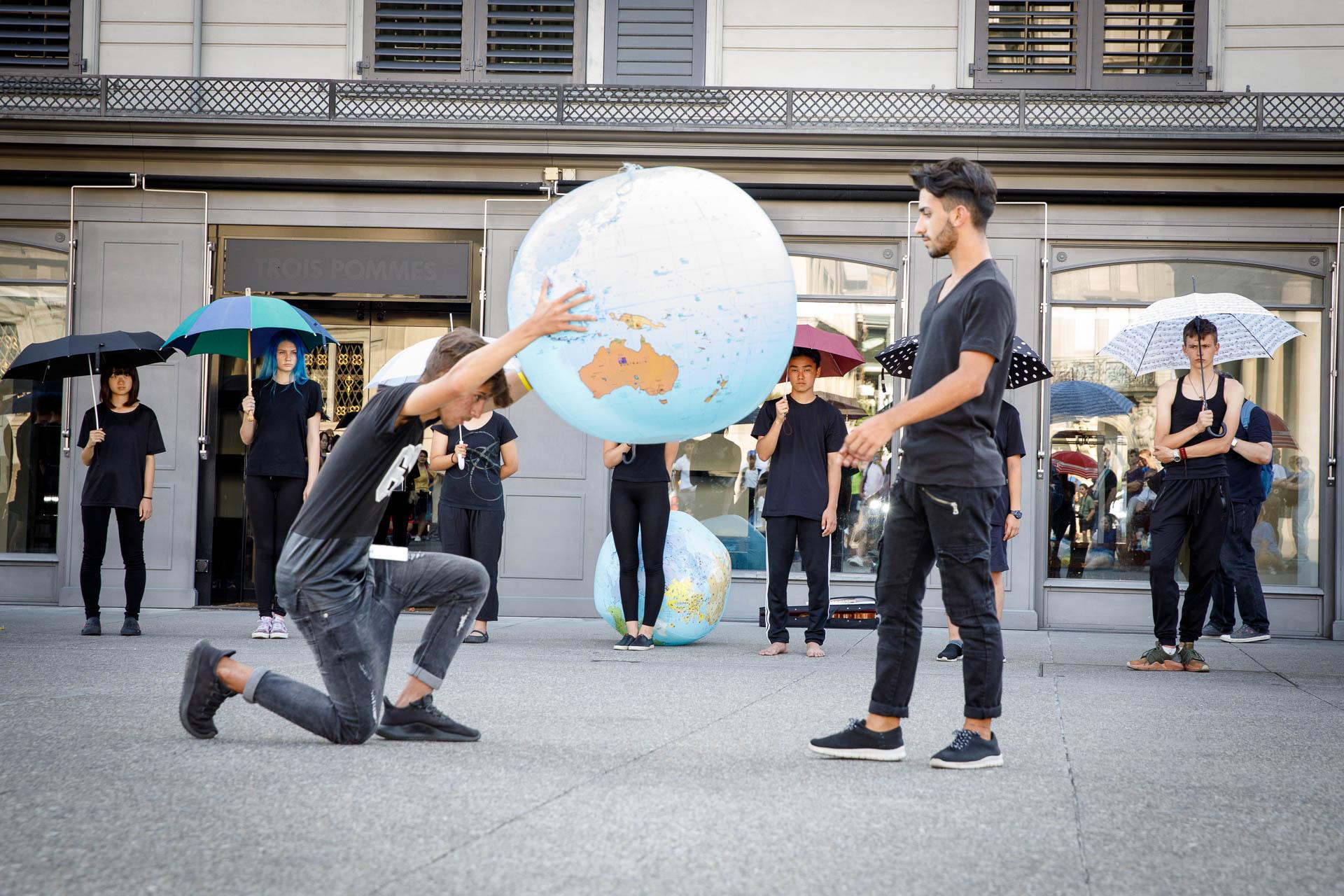 Green Cross Theaterperformance über die Earth Charta, Therapiecamp-Jugendliche, Zürich