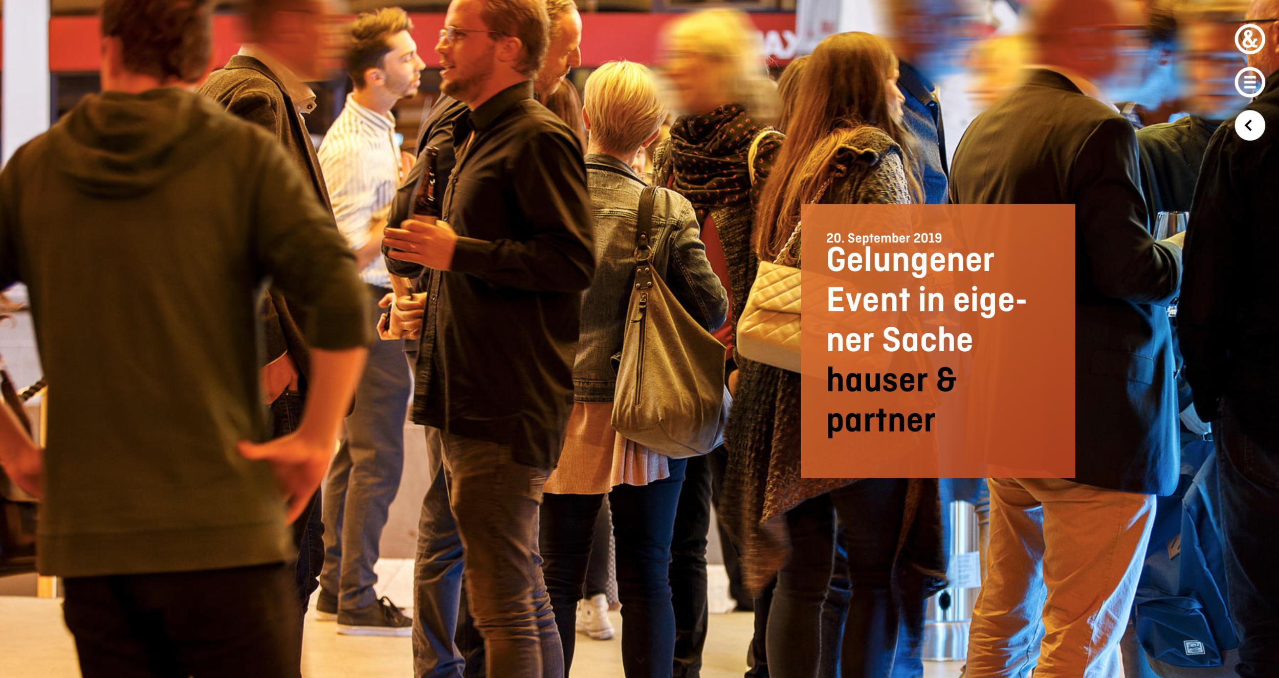 Gelungener Event in eigener Sache | Hauser & Partner Eventbilder