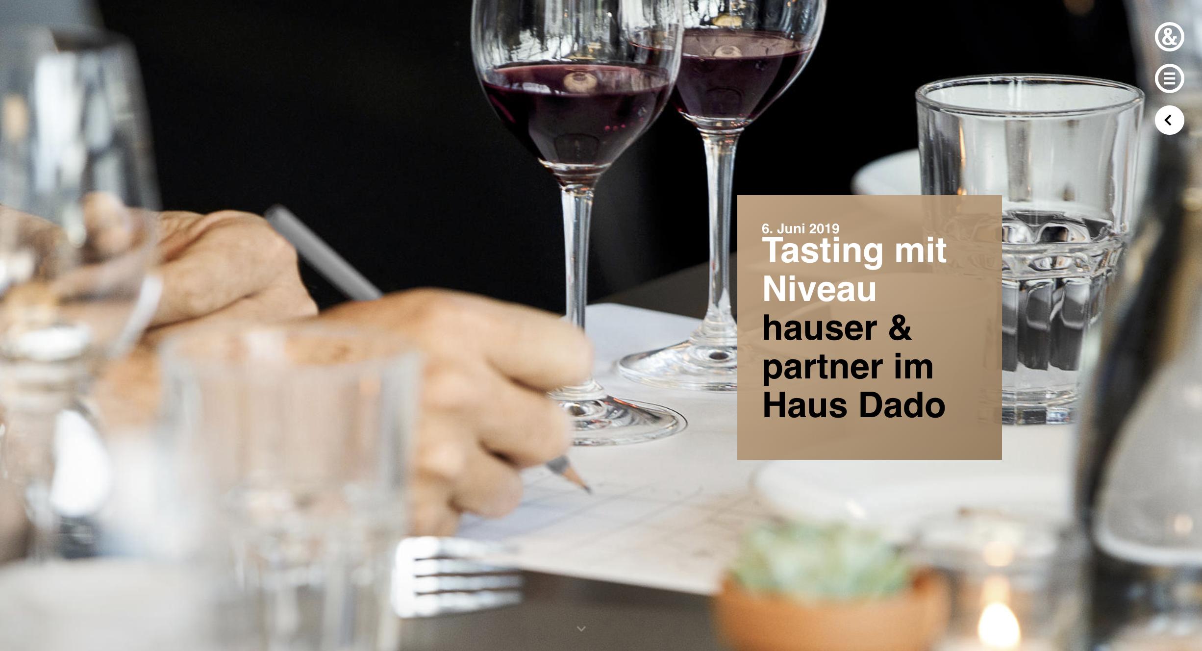Tasting mit Niveau | Hauser & Partner Eventbilder