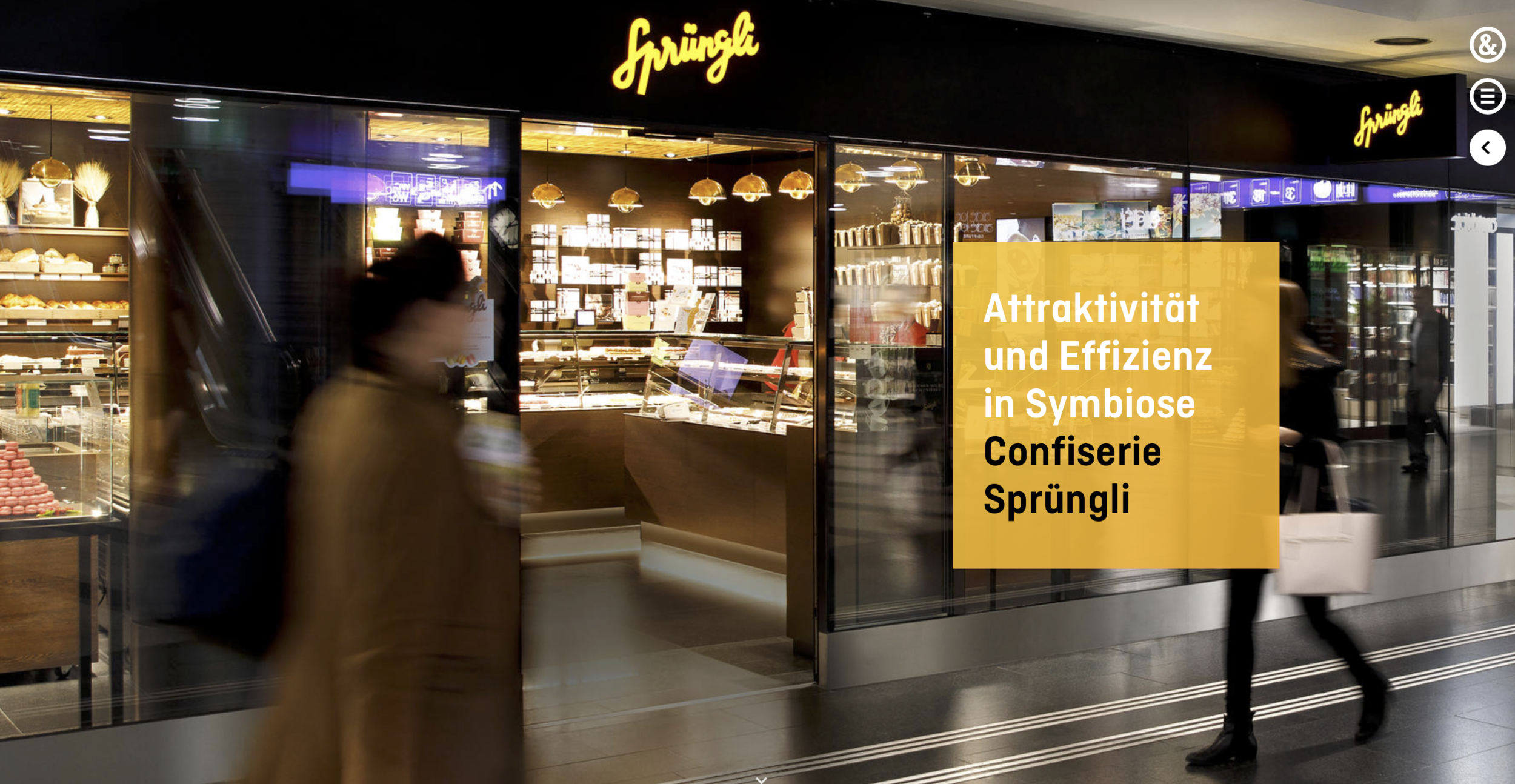 COMMISSIONED - Confiserie Sprüngli Zürich HB | Hauser & Partner