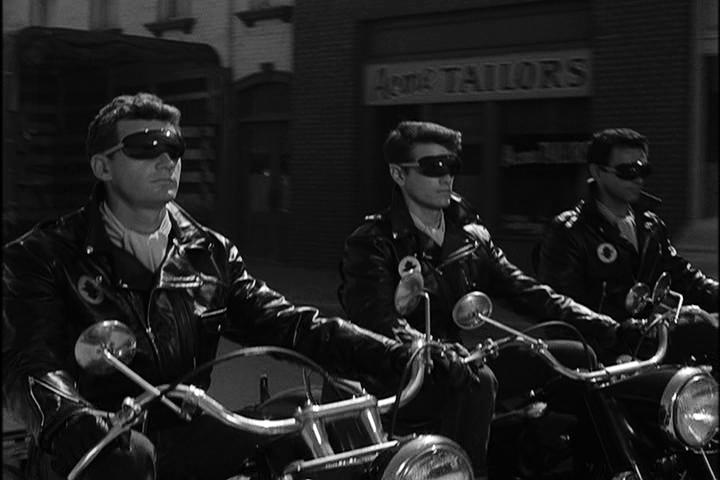 "A still from the ""Black Leather Jackets"" episode of The Twilight Zone"