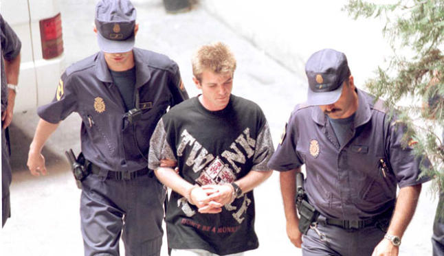 Miguel Ricart being arrested