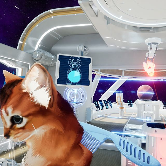 Brushing my kitten while lasers are going off. Just another day in Kitten'd. Try out our VR game it's currently 20% of! www.kittend.com  #cats #gamedev #gamedevelopment #indiegame #indiegamedev #ue4 #unrealengine4