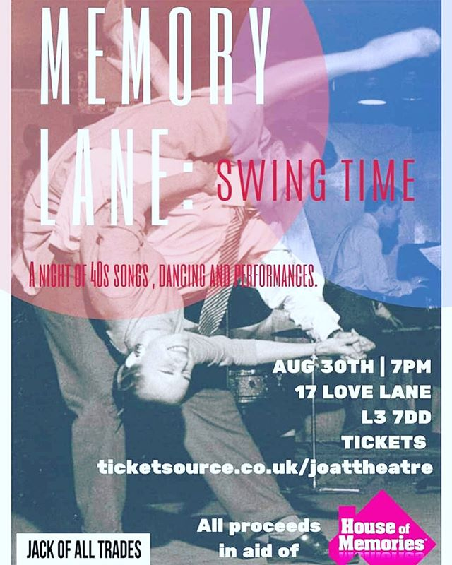 Friday 30th August sees @joattheatre take over the space and transform it back to the 1940's for a night of Swing, dance and performance. Get your tickets by visiting their page. It's going to be a good one. . . . . . . .#17lovelane #performance #theatre #swing #creativeevent #dance