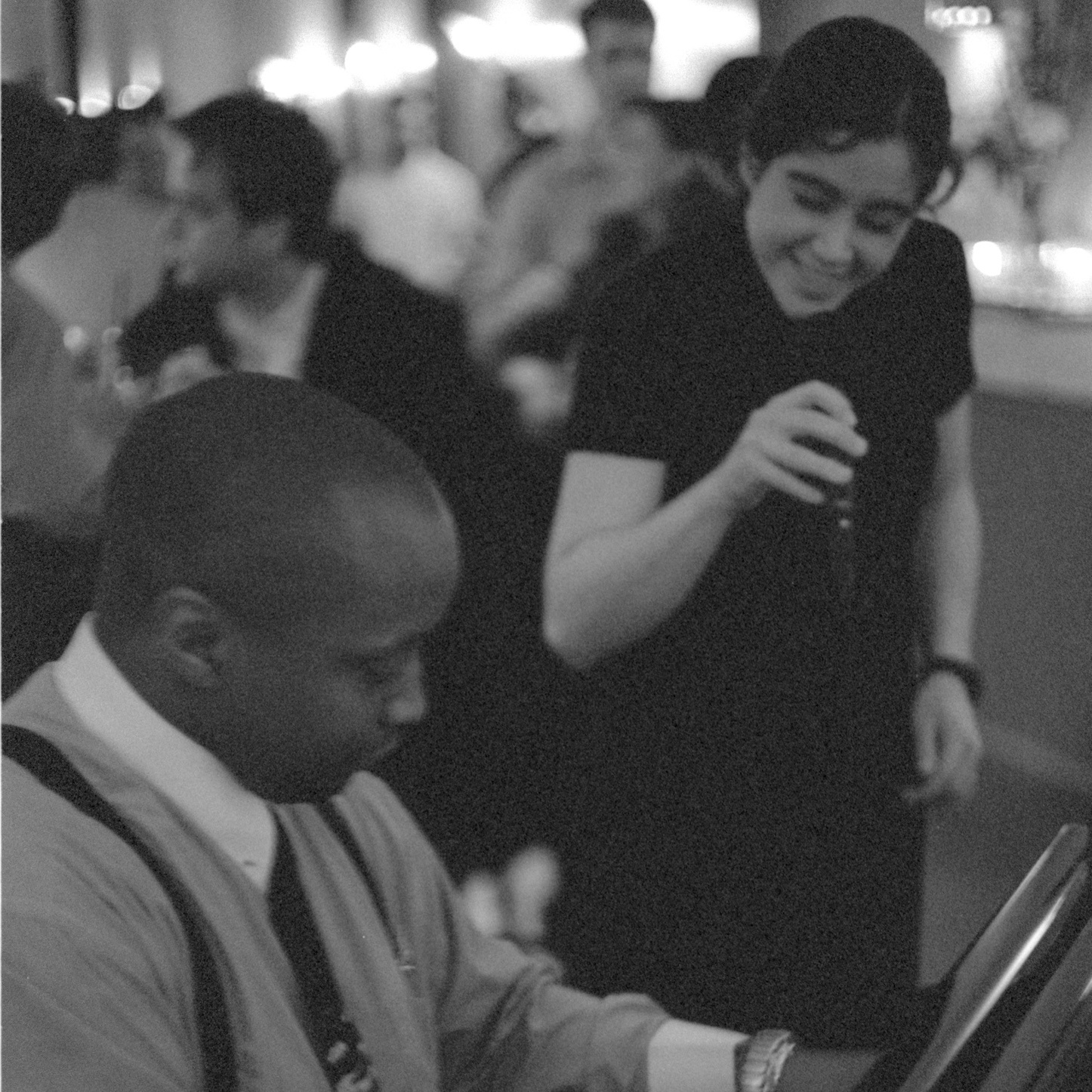 An example of me singing AT people (with far less make up than my promo pic) at another bar in DC with pianist Derrick Finch around this same time.