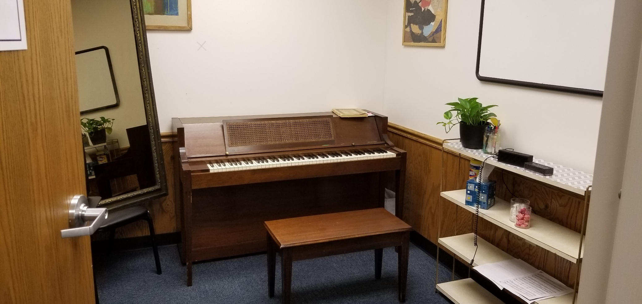 Small Enclosed Rehearsal Space or Practice Studio