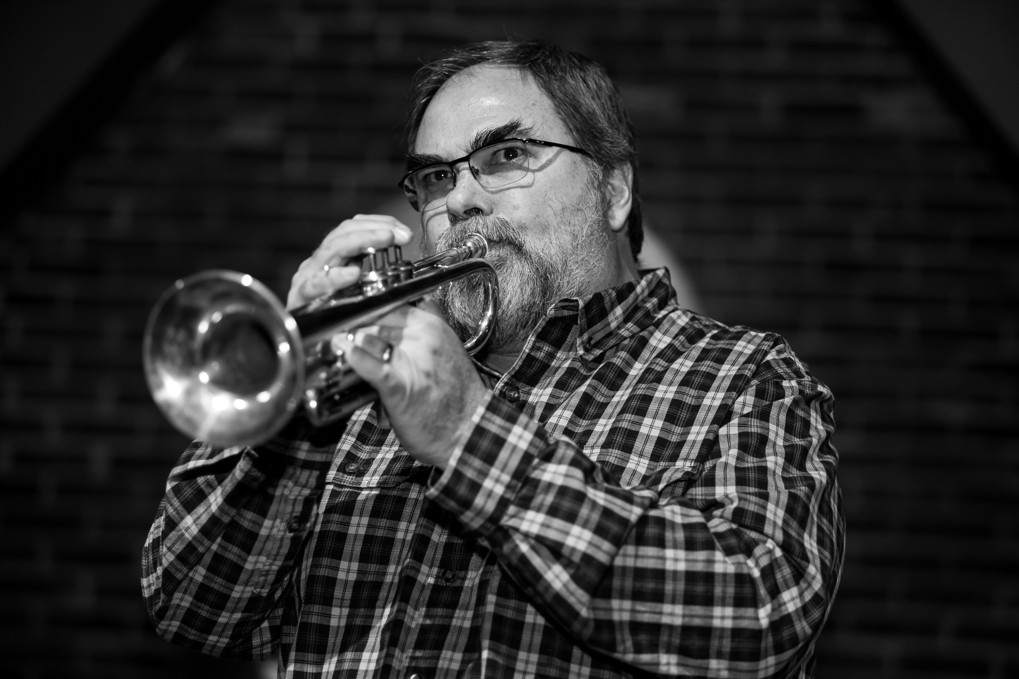 Trumpeter Chris Rysenga performs with his JCI trio at the Union Cabaret & Grille in downtown Kalamazoo.