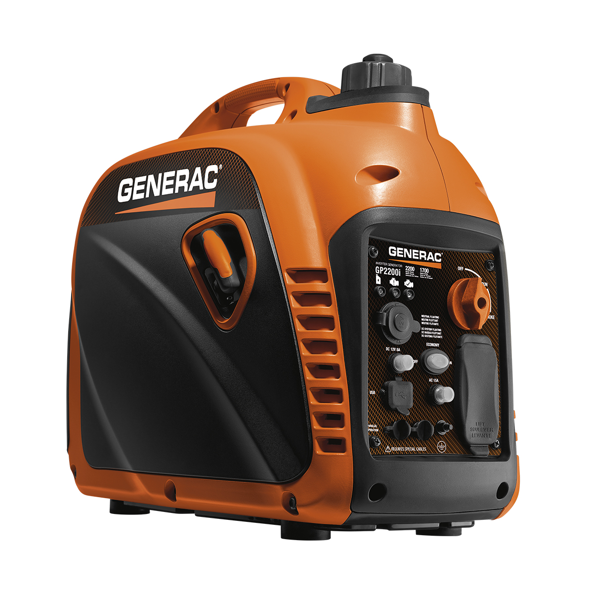 The GP1200i portable generator is 1200 watts and great for camping, tailgating or other activities on the go!