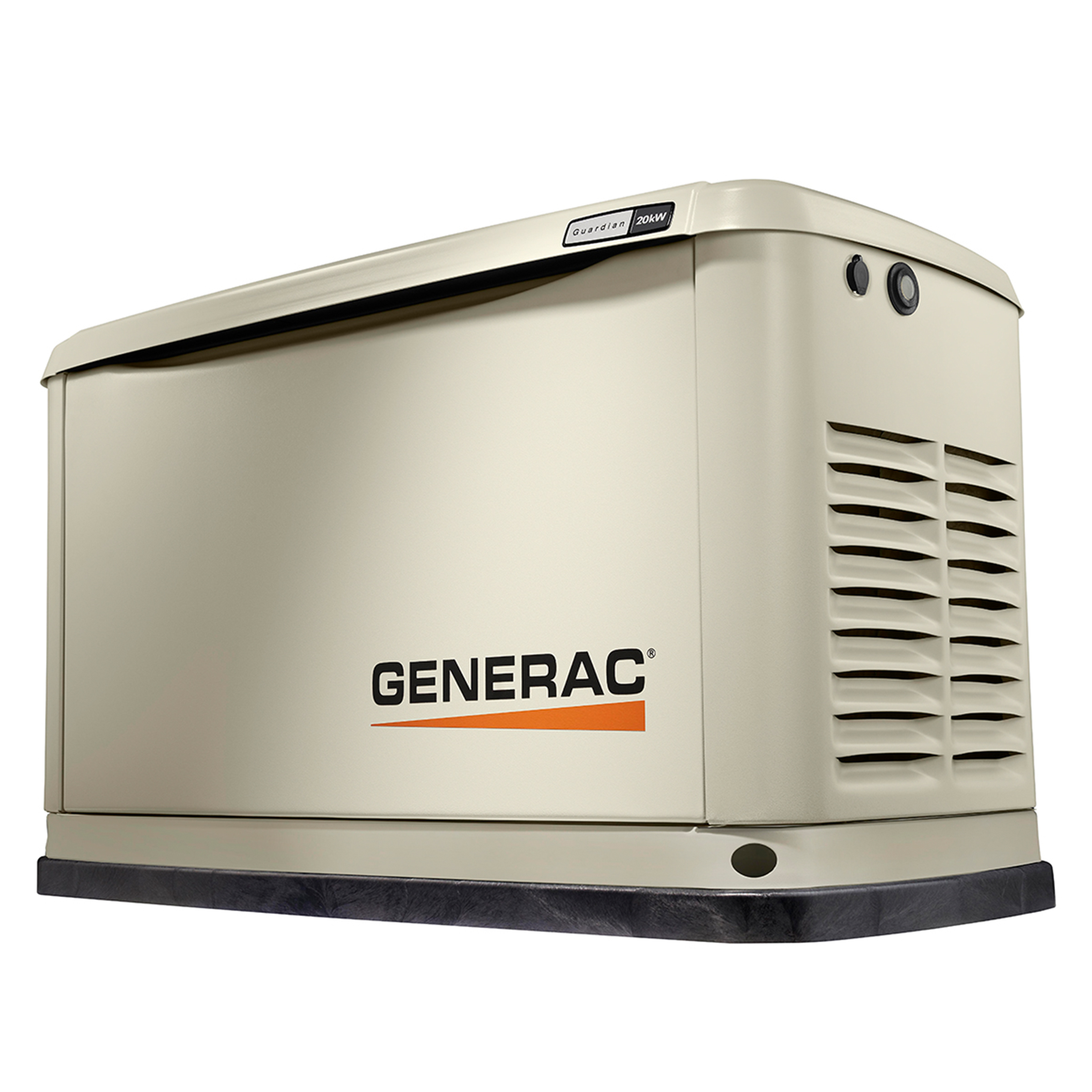 A Generac automatic standby generator is installed permanently on a concrete pad at your property and will provide uniterrupted backup for days.