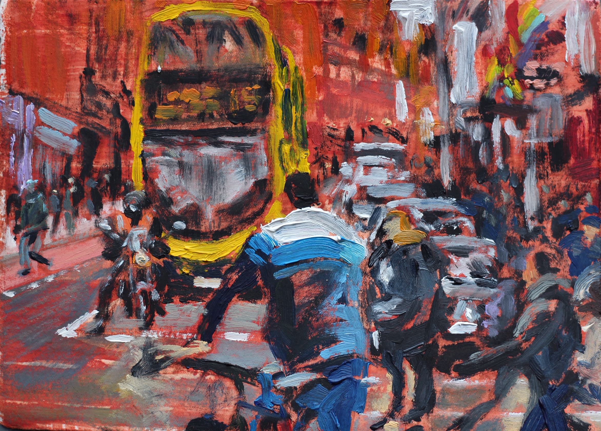 The Rush on George's Street 2 - 15x20cm