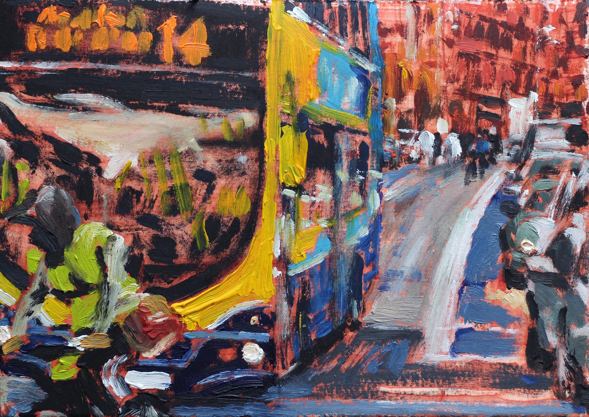 The Rush on George's Street 1 - 15x20cm