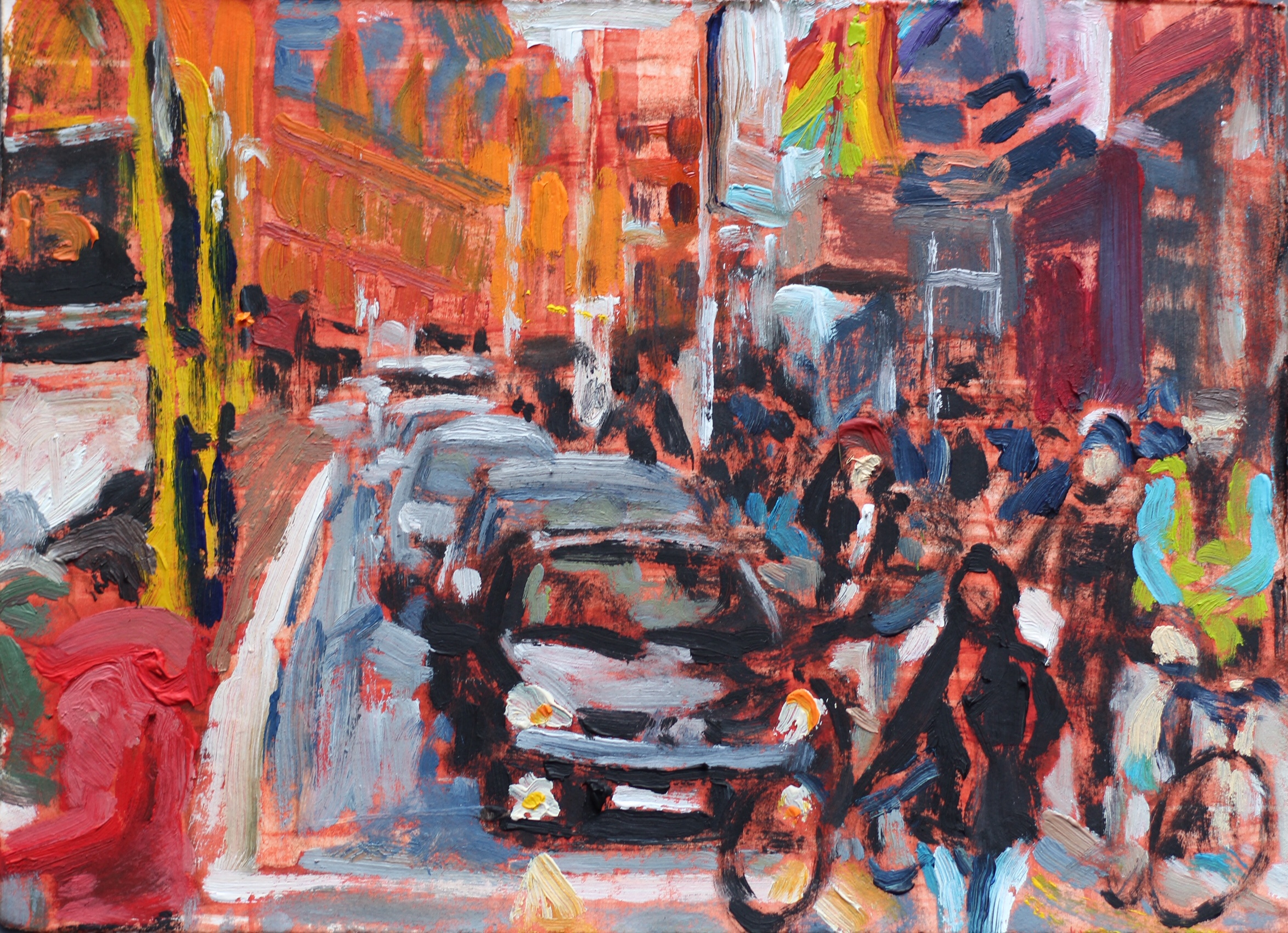 The Rush on George's Street 3 - 15x20cm