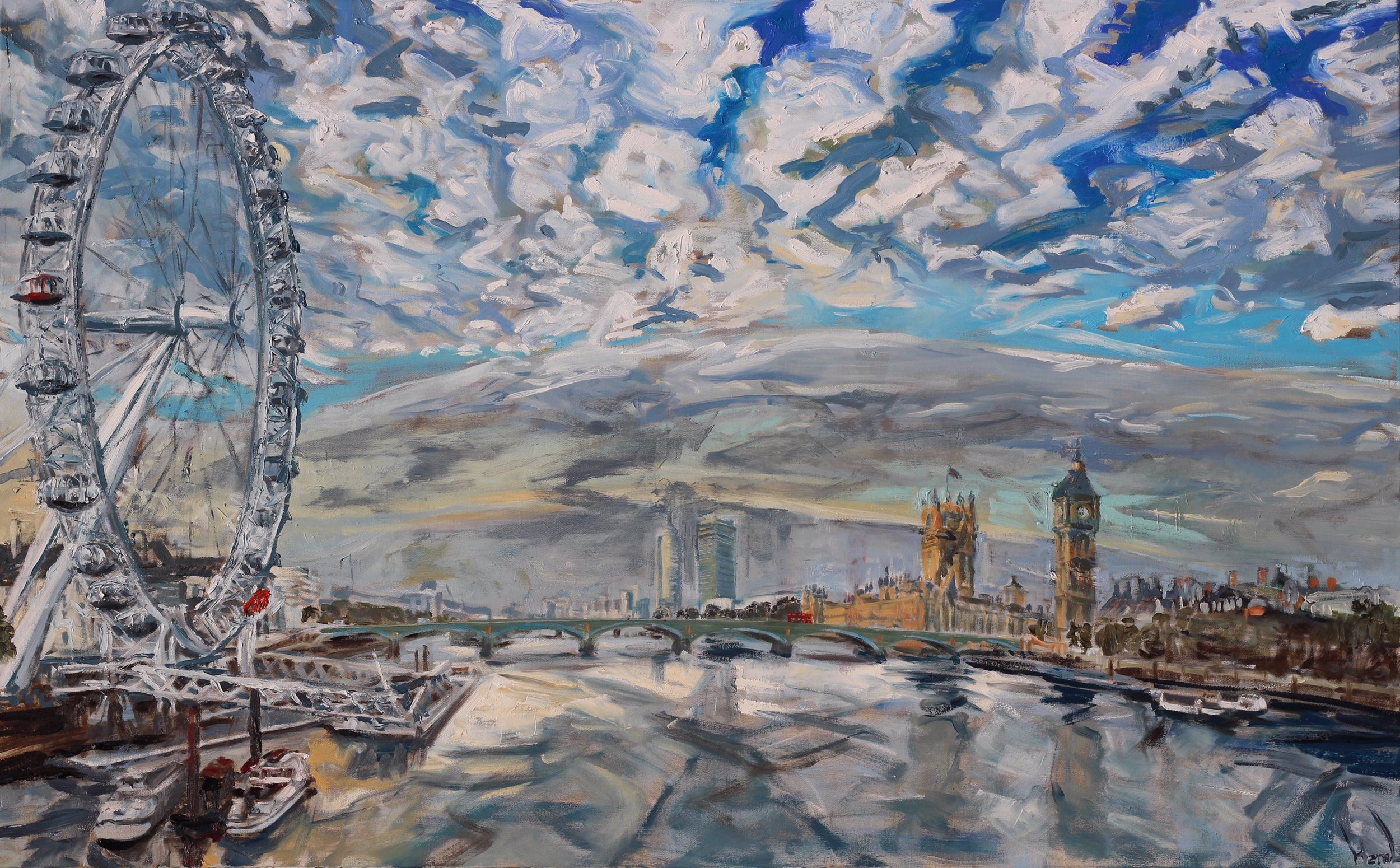 Westminster on a Summer Morning - 76x122cm
