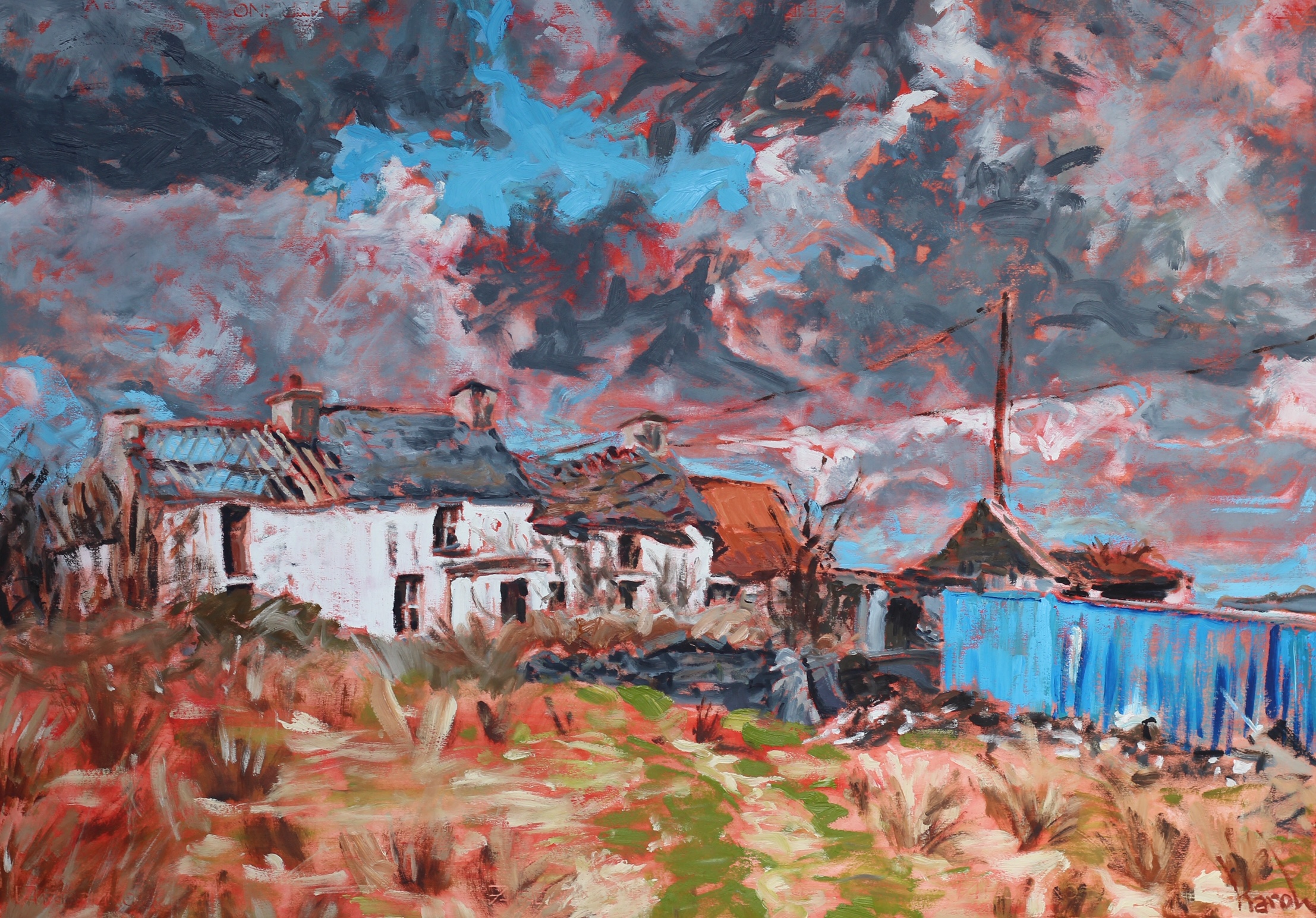 The House of Red Paddy Manus in Kilult - 70x100cm