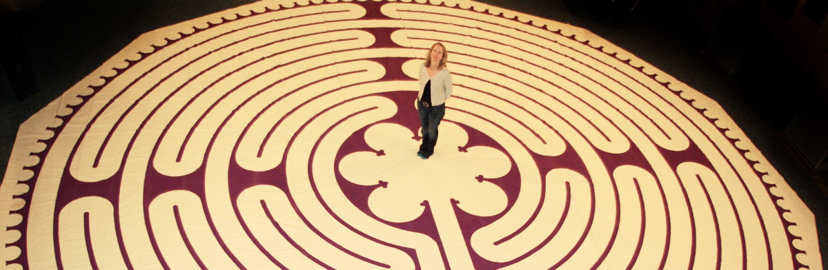 """Labyrinth days for women are individual retreat days held at the Equinox and Solstice days, powerful moments that mark the turning of the wheel of the year.  This session: Psyche's Tasks - The Heroine's Journey """"Descent & Return To New Life"""""""