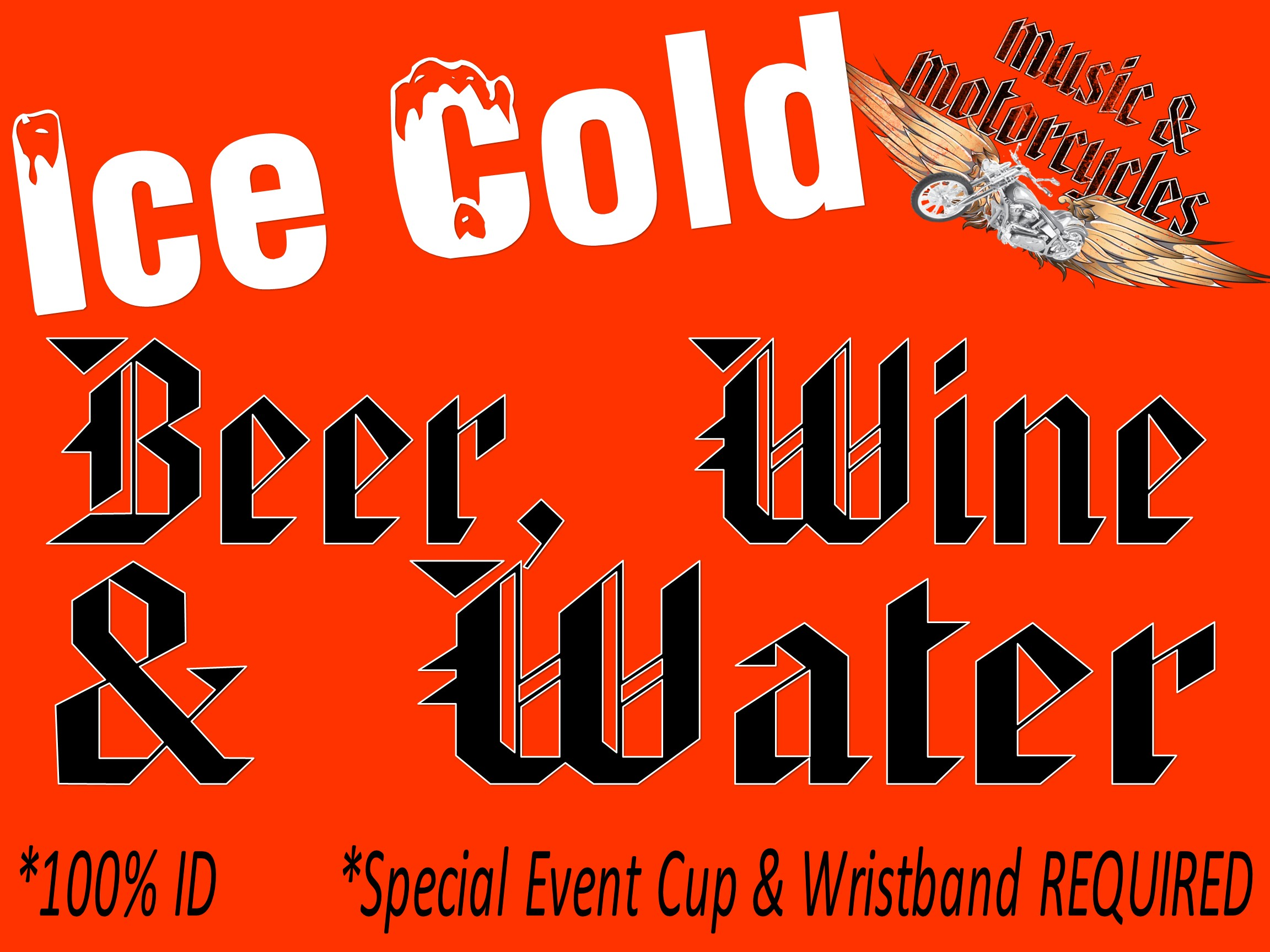 FREE Wristbands located at the Main Street ID Check Booth near beer tent. 100% ID - NO EXCEPTIONS